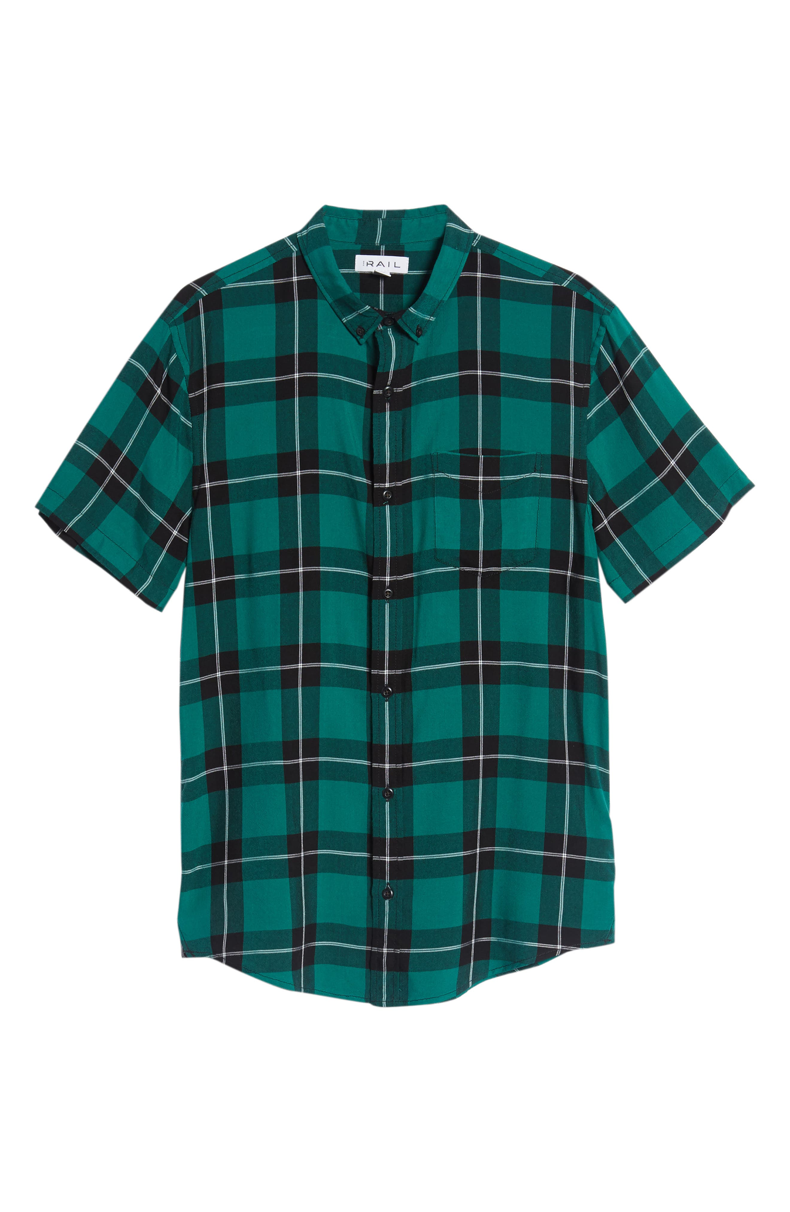 Yarn Dyed Plaid Shirt,                             Alternate thumbnail 6, color,                             001