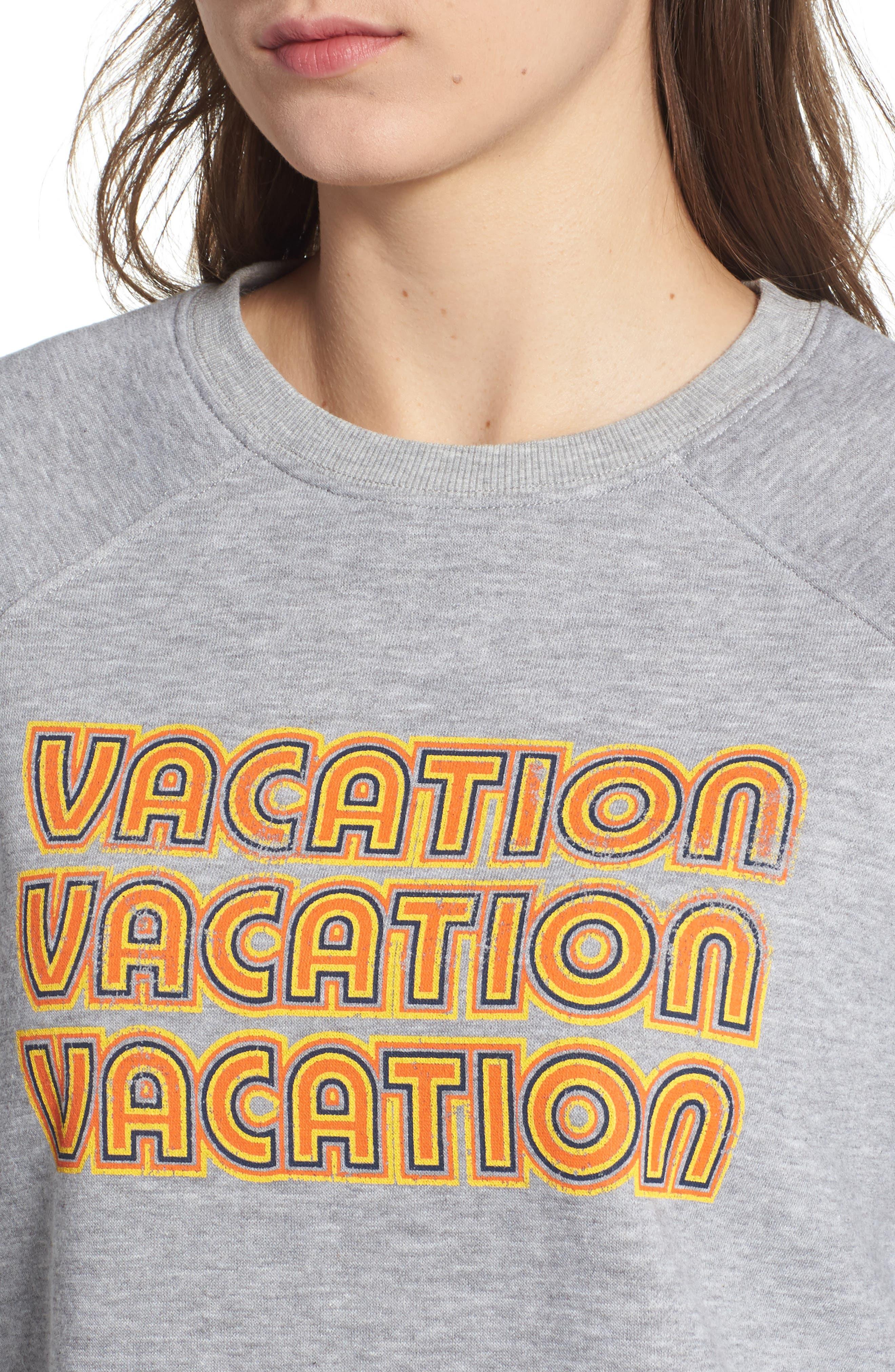 REBECCA MINKOFF,                             Vacation Sweatshirt,                             Alternate thumbnail 4, color,                             026