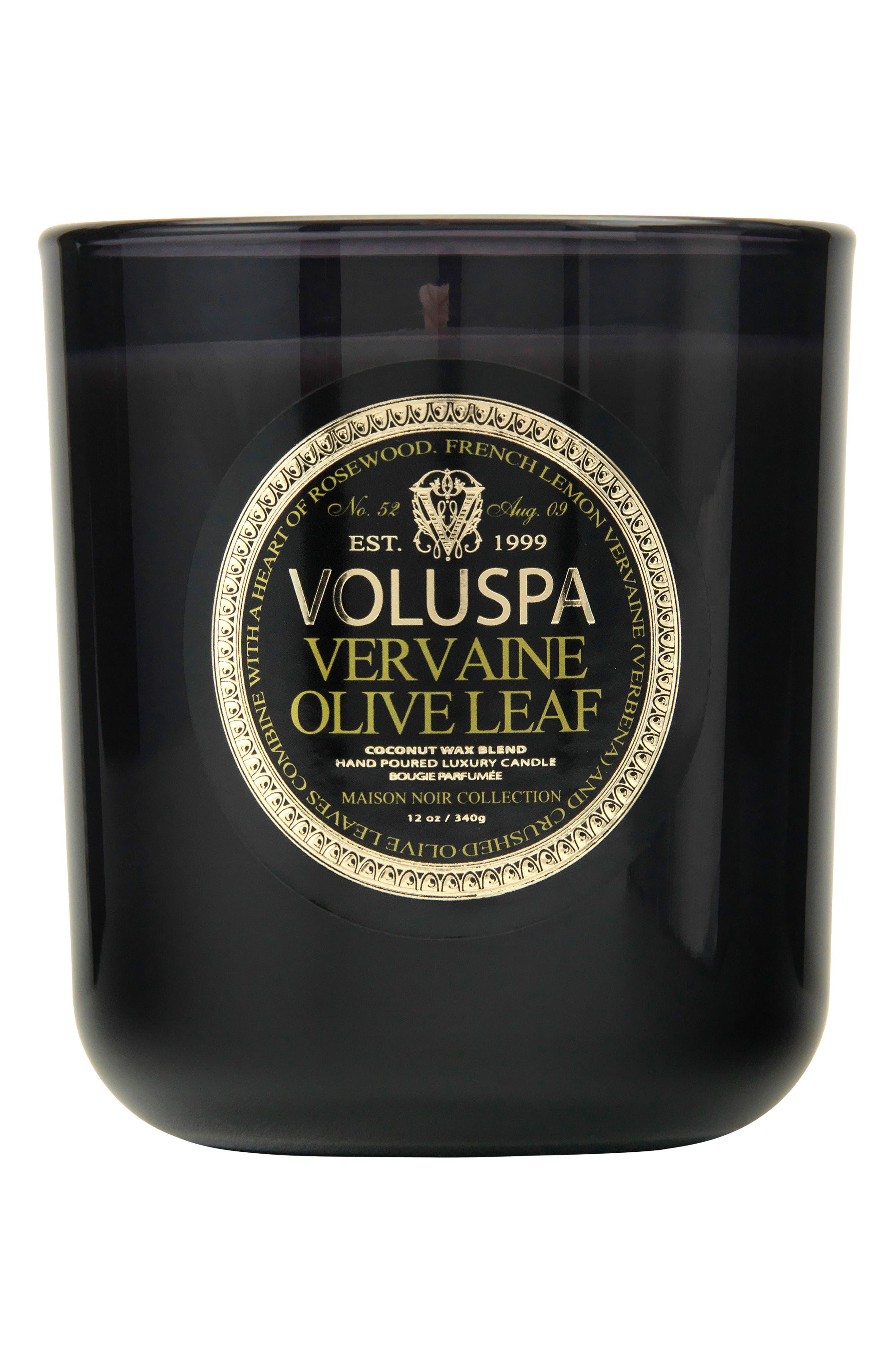 VOLUSPA,                             Maison Noir Vervaine Olive Leaf Classic Maison Candle,                             Main thumbnail 1, color,                             NO COLOR