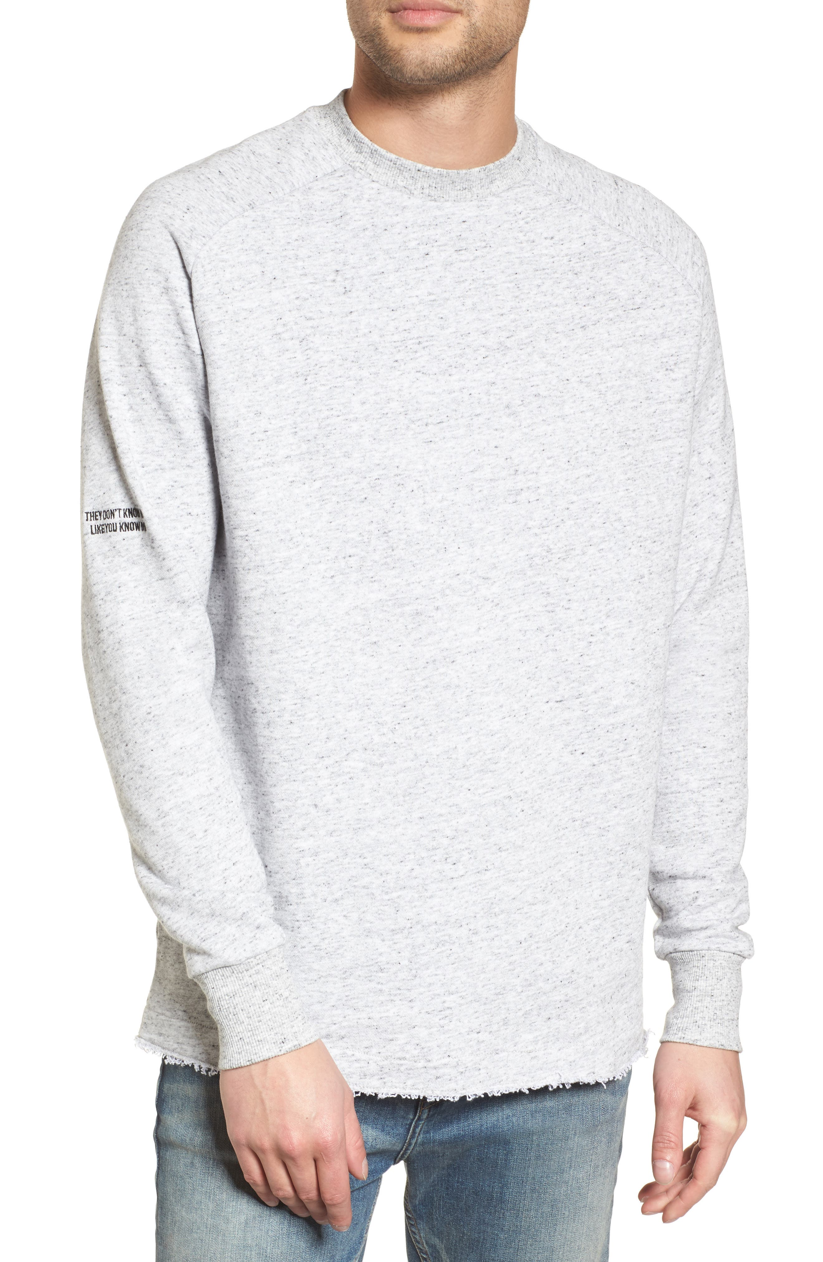 Torn Crew Sweatshirt,                             Main thumbnail 1, color,                             059