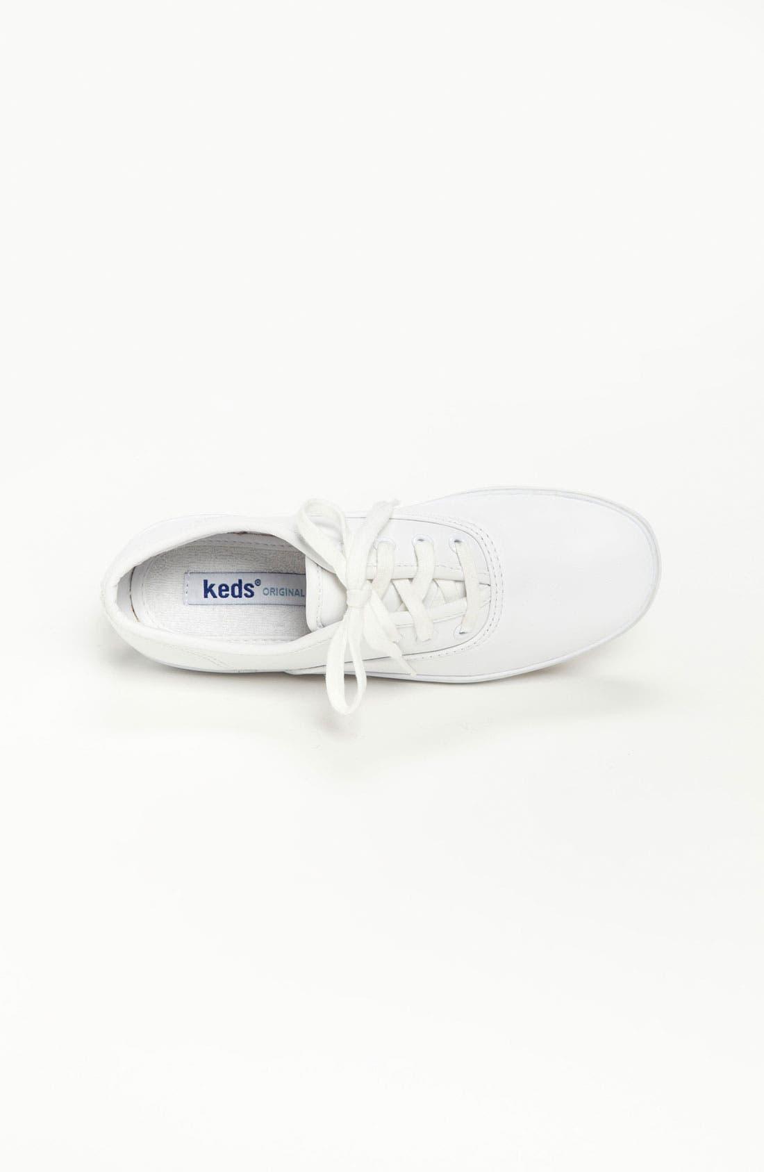 'Champion' Sneaker,                             Alternate thumbnail 3, color,                             WHITE LEATHER