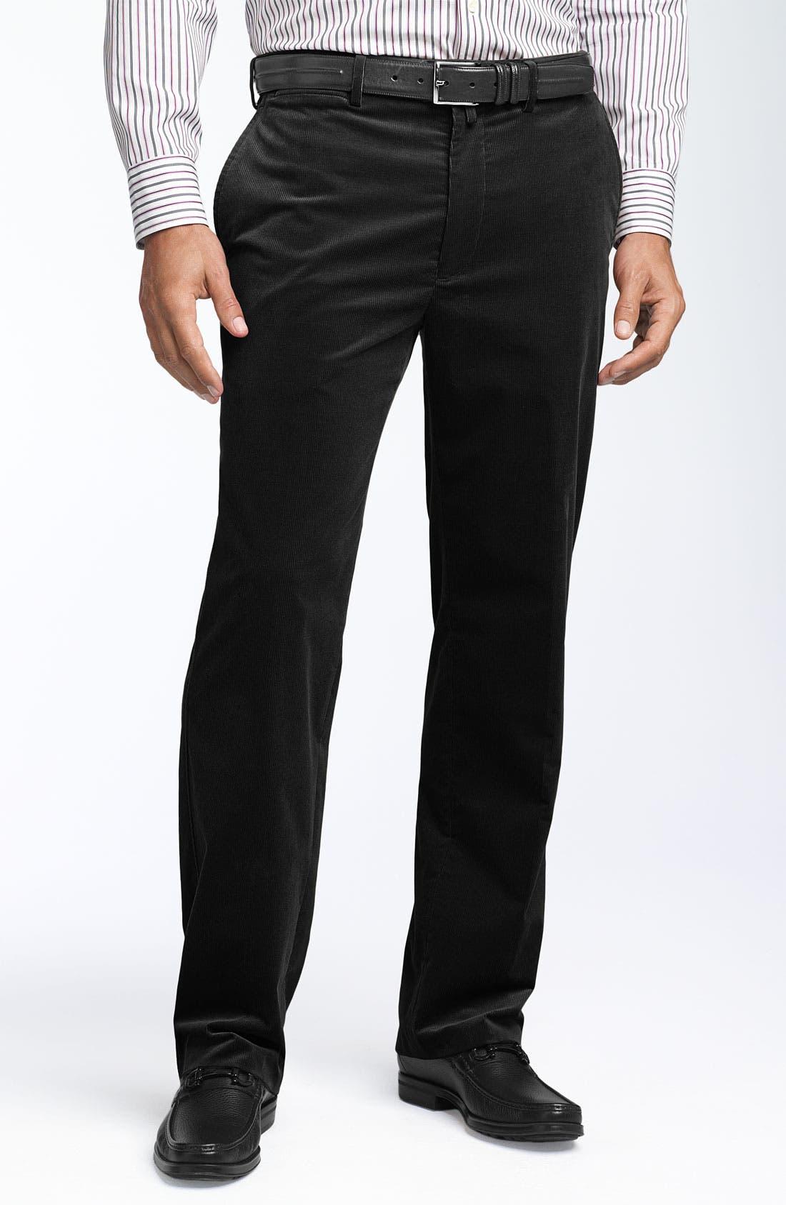 Façonnable Stretch Corduroy Pants,                             Main thumbnail 1, color,                             001