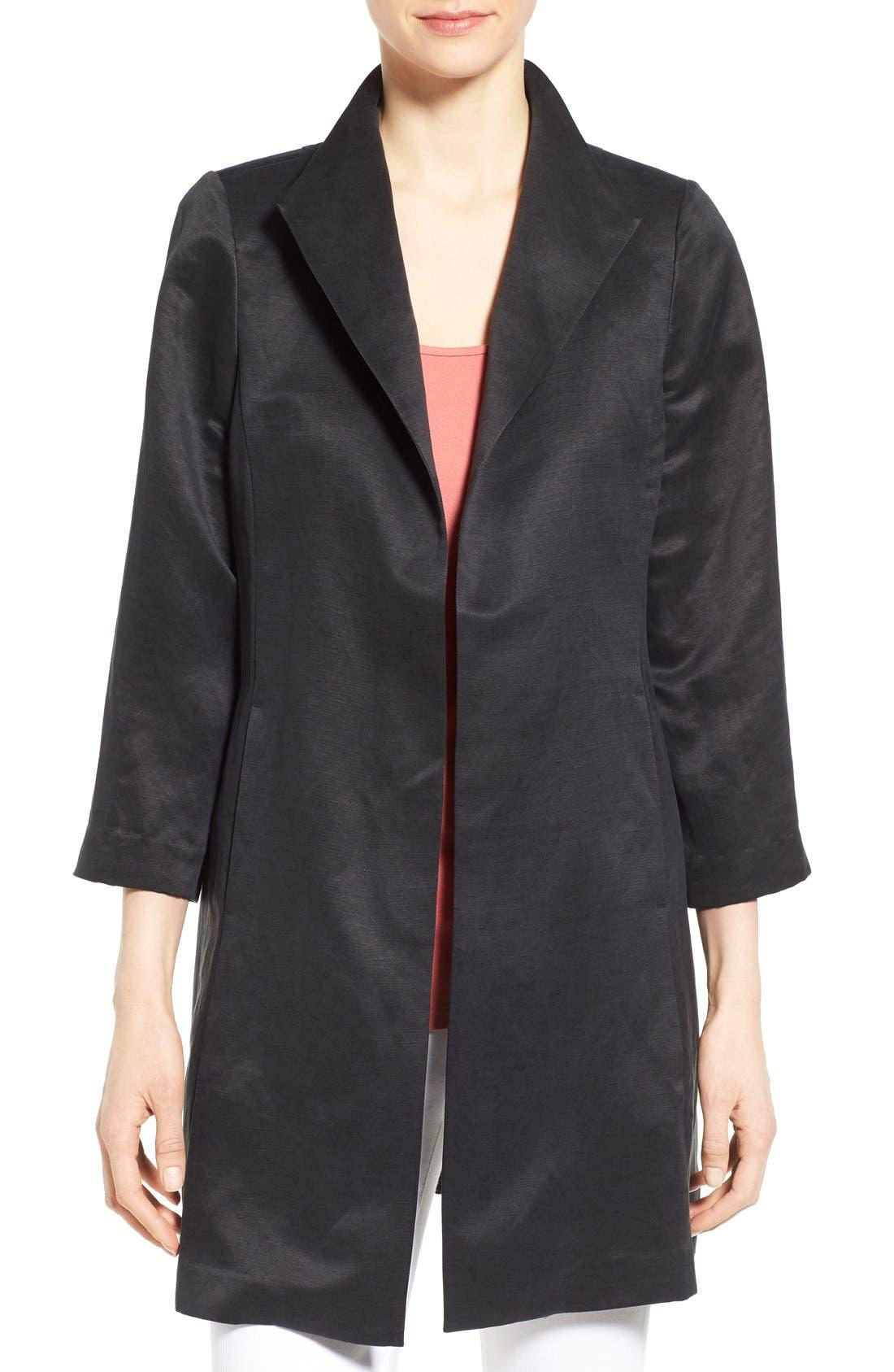 High Collar Long Jacket,                             Main thumbnail 3, color,