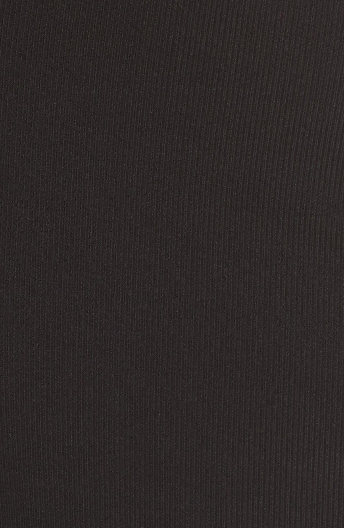 Olya Rib Sheath Dress,                             Alternate thumbnail 6, color,                             BLACK