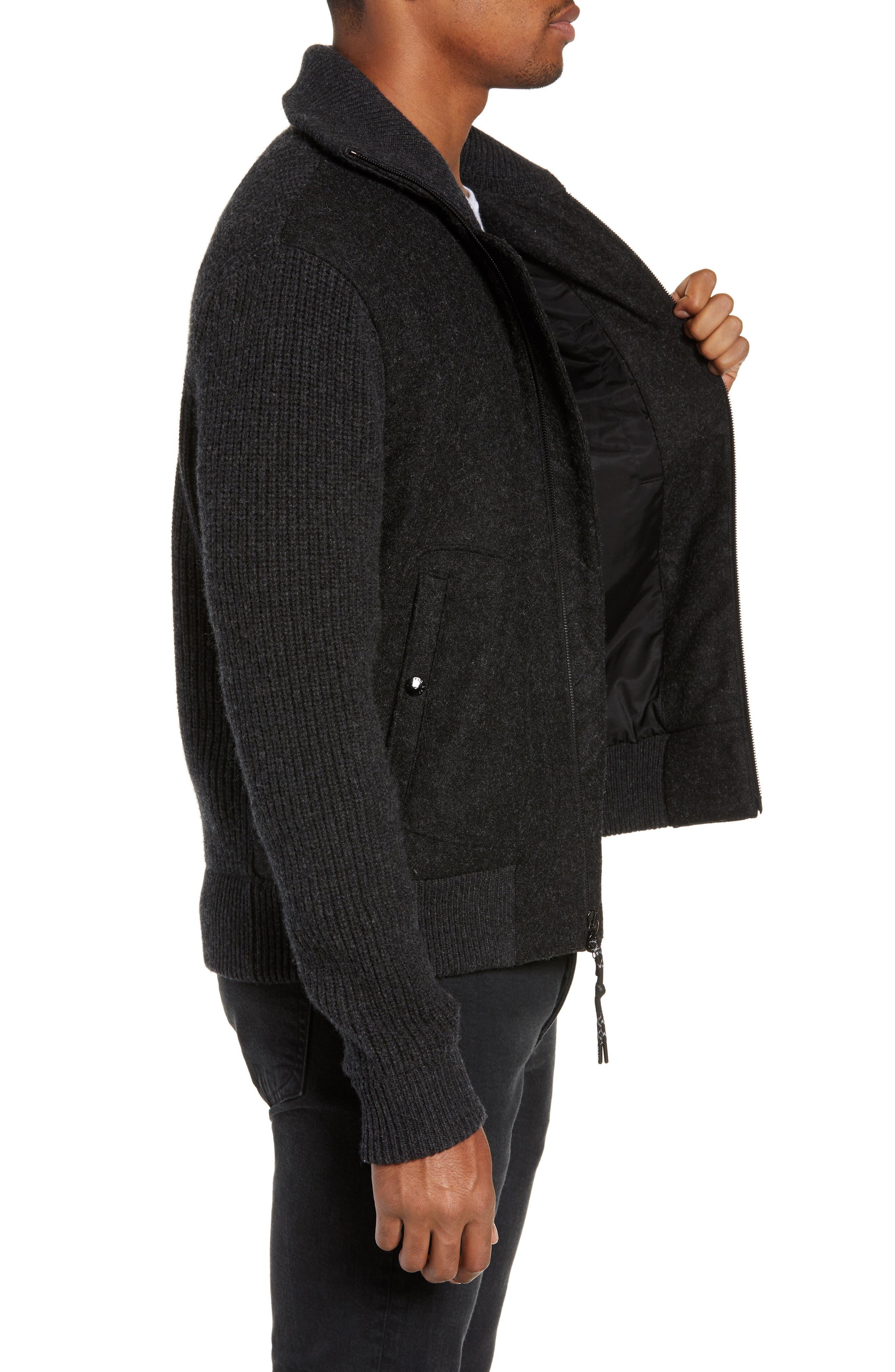 Carson Wool Jacket,                             Alternate thumbnail 3, color,                             CHARCOAL