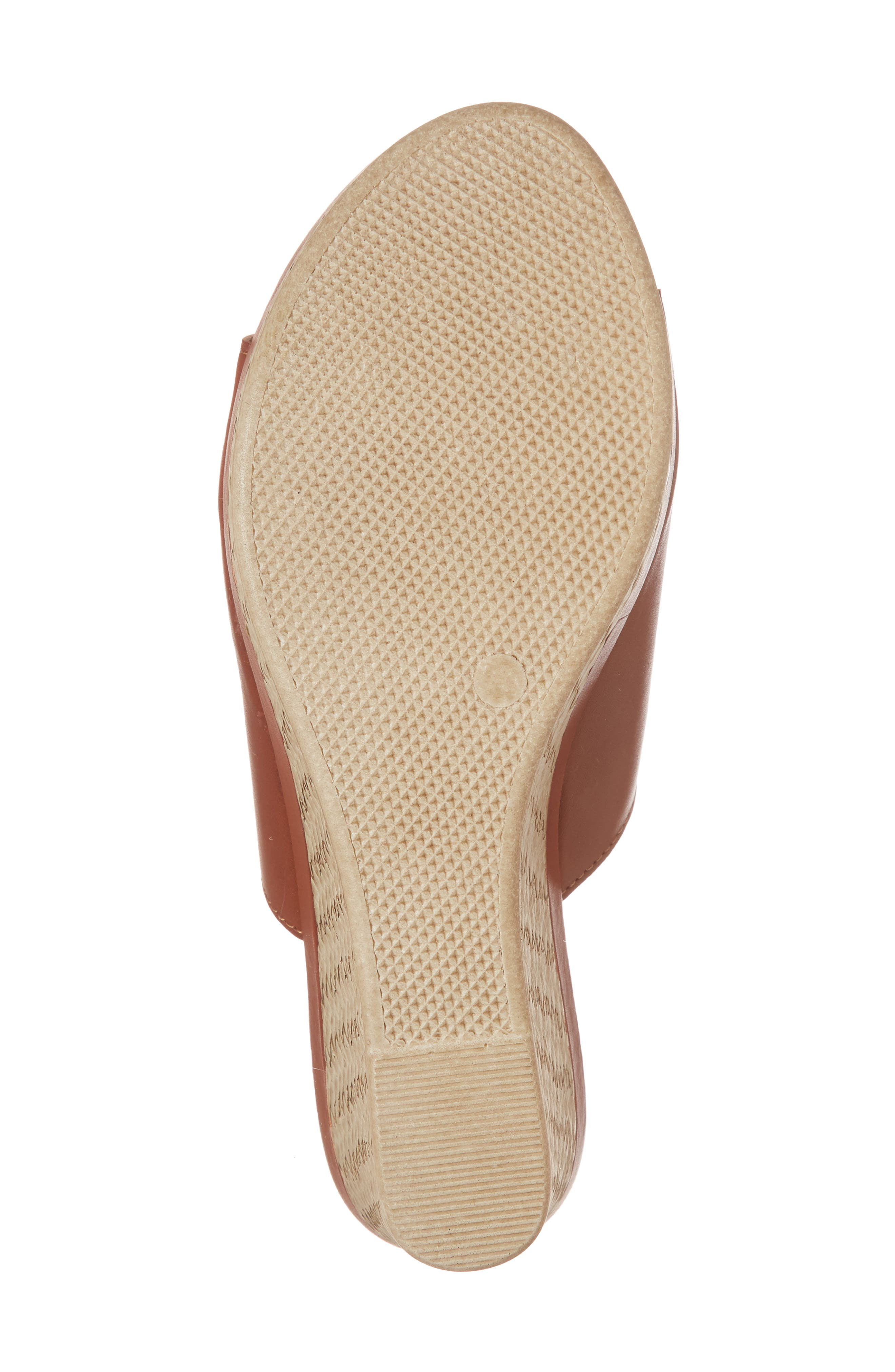 by Easy Street<sup>®</sup> Octavia Espadrille Wedge,                             Alternate thumbnail 6, color,                             COGNAC FAUX LEATHER