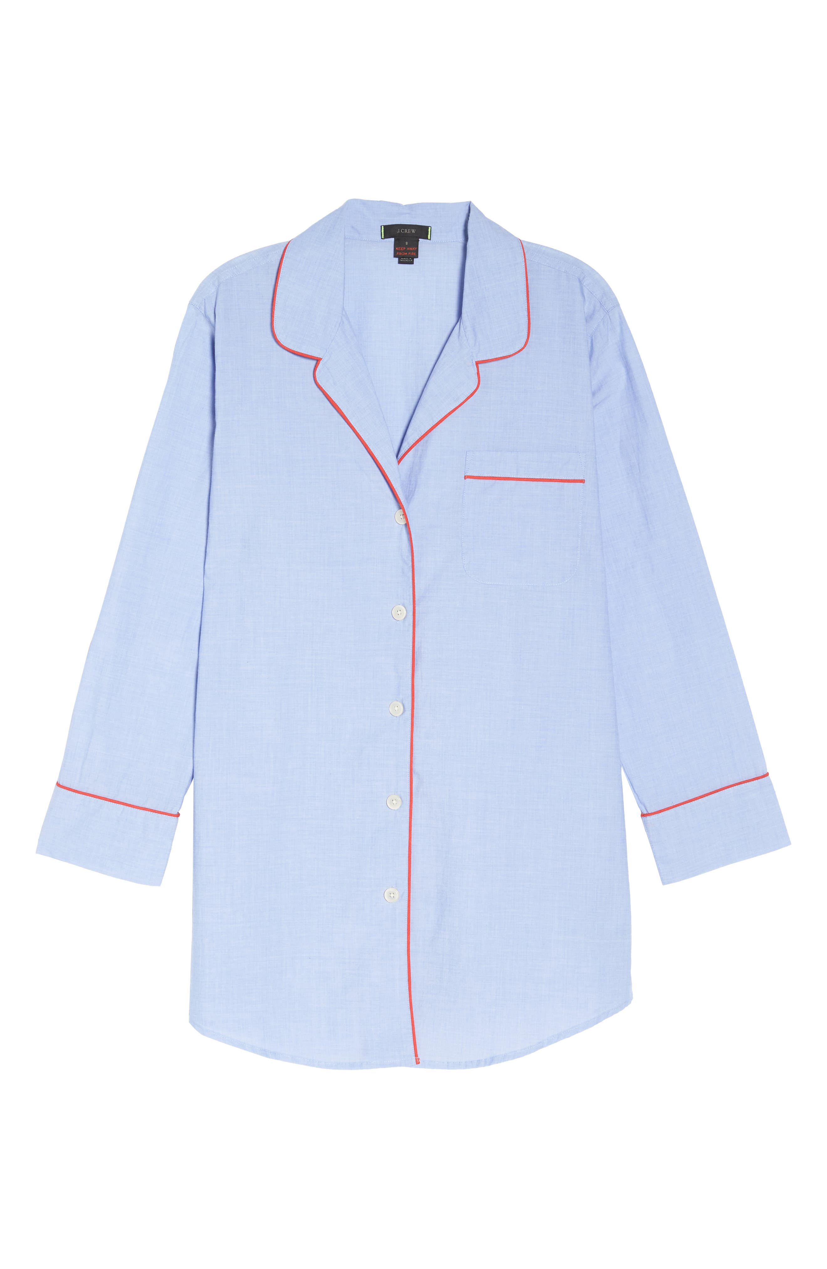 Woven Nightshirt,                             Alternate thumbnail 6, color,