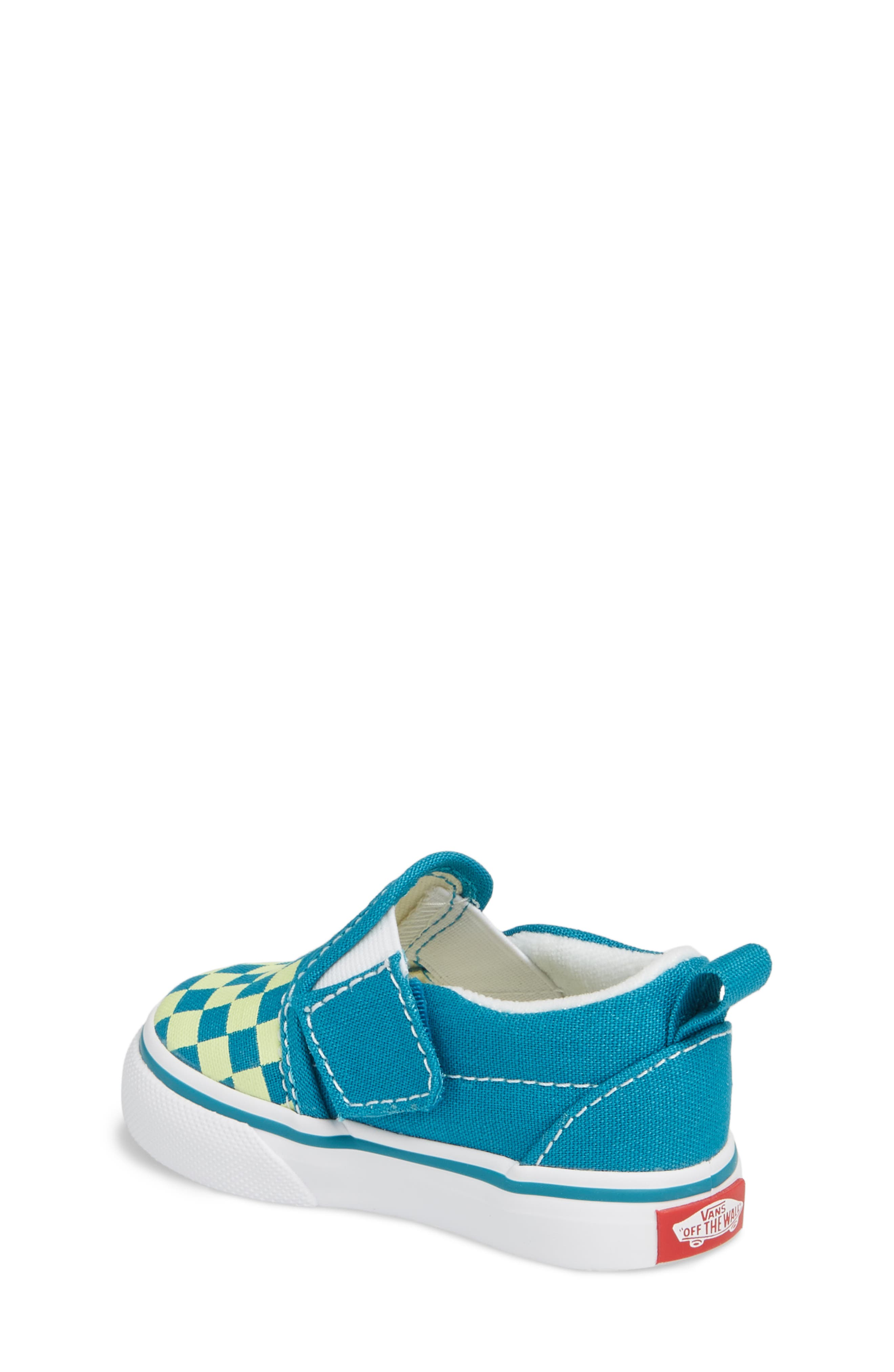 Slip-On Crib Shoe,                             Alternate thumbnail 2, color,                             ENAMEL BLUE/ SHARP GREEN