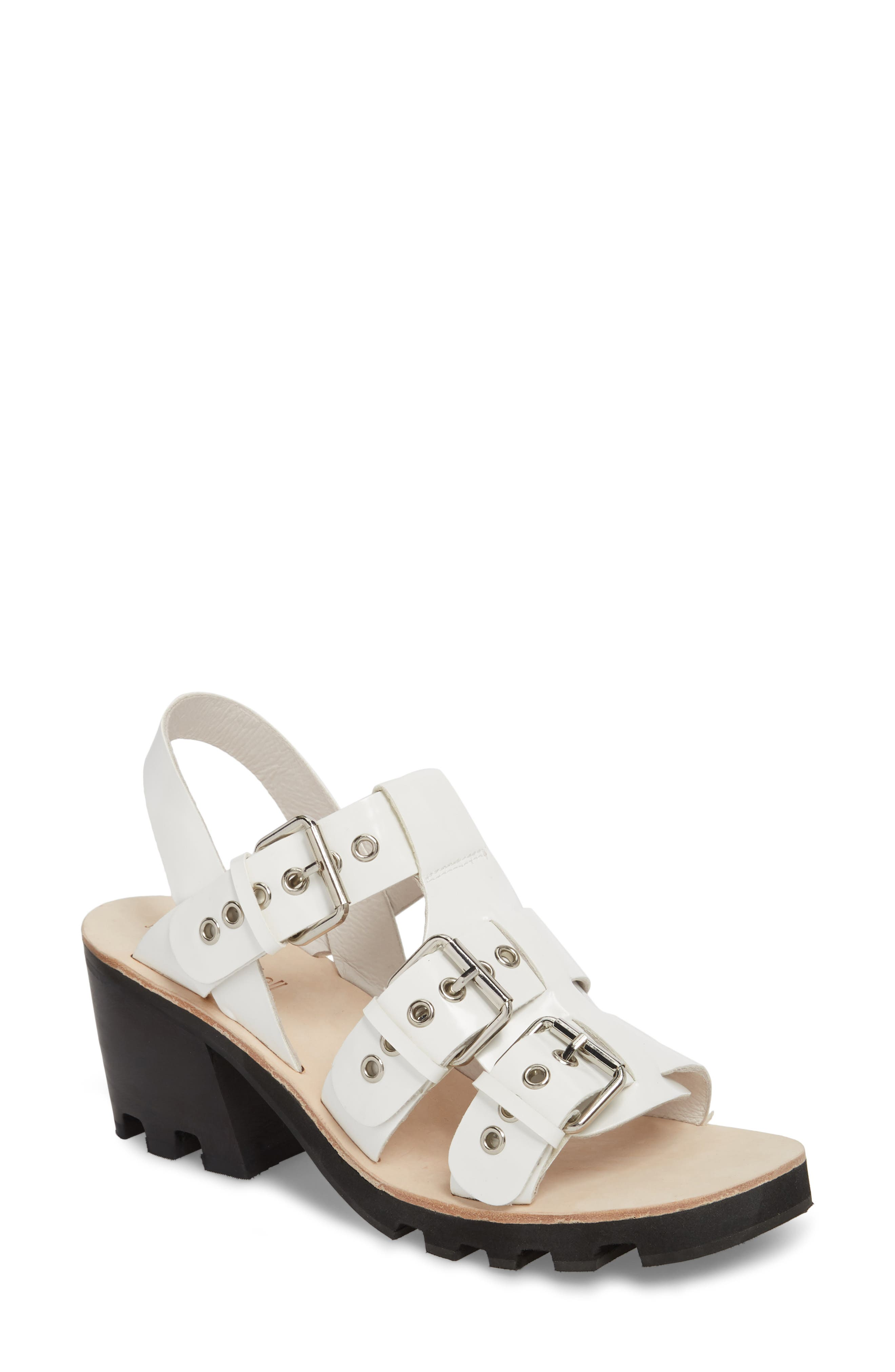 Riveter Lugged Buckle Sandal,                         Main,                         color, 100