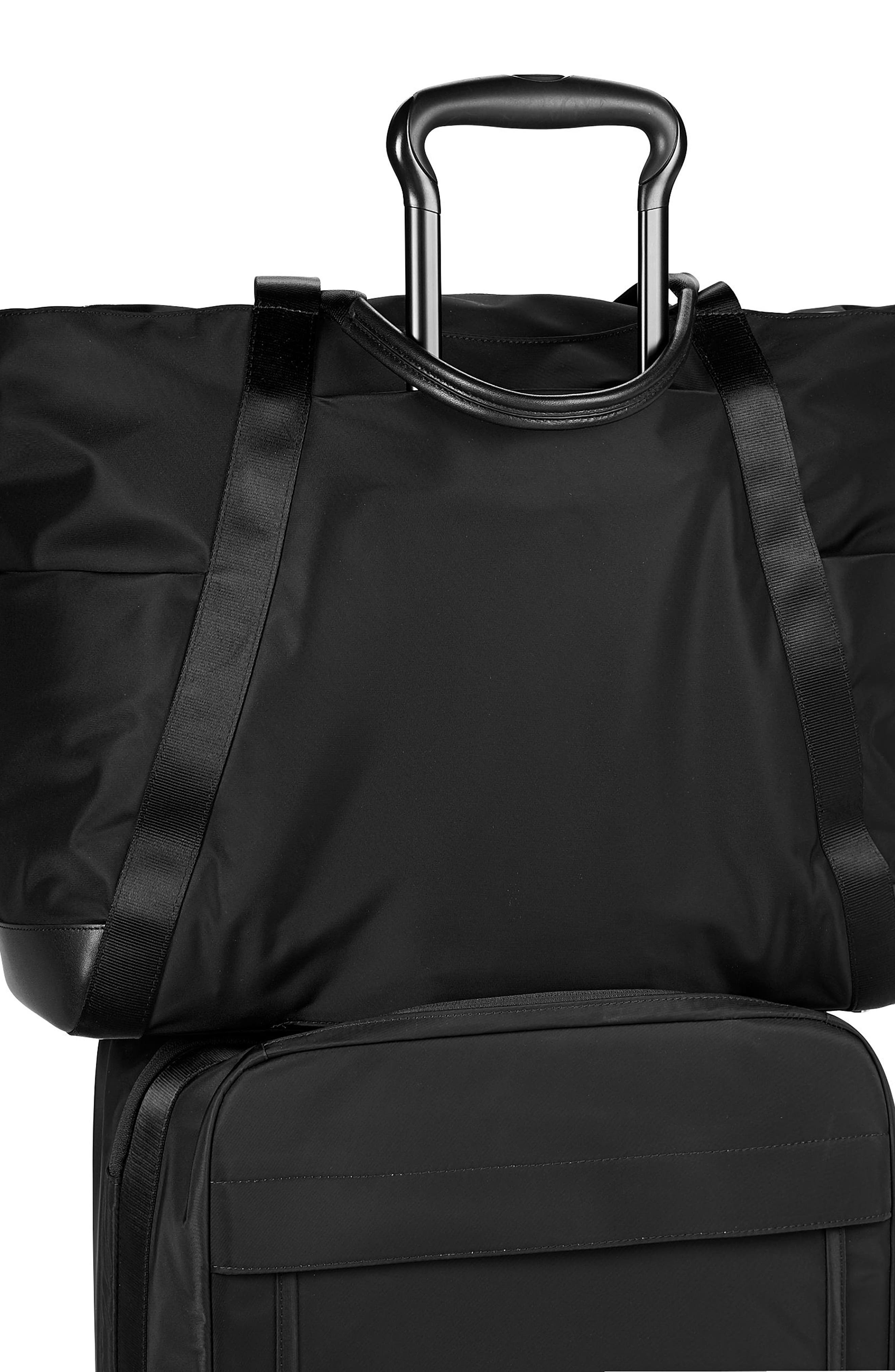 Voyaguer - Madrid Nylon Duffel Bag,                             Alternate thumbnail 5, color,                             BLACK