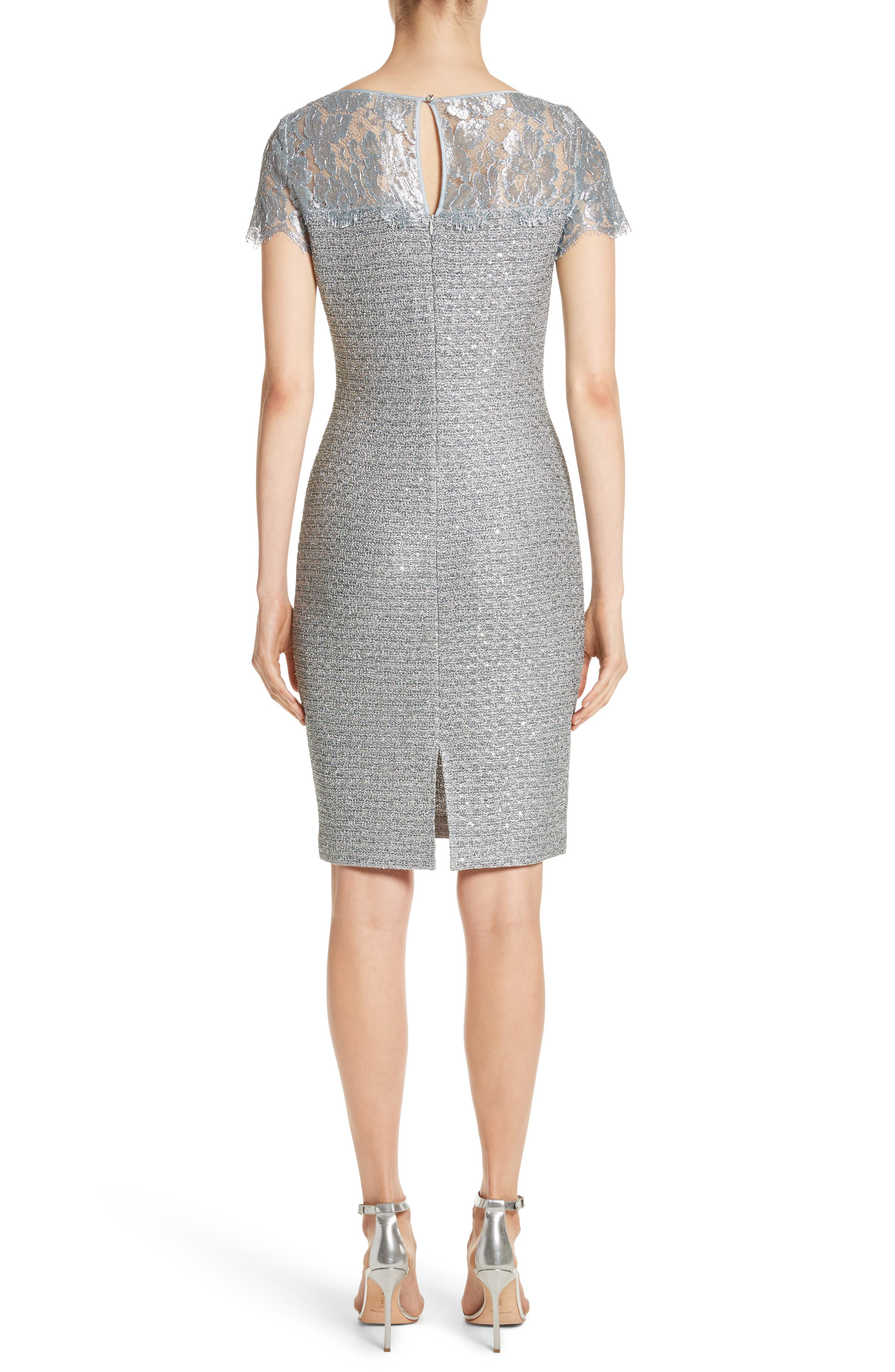 Metallic Sequin Knit Dress,                             Alternate thumbnail 2, color,