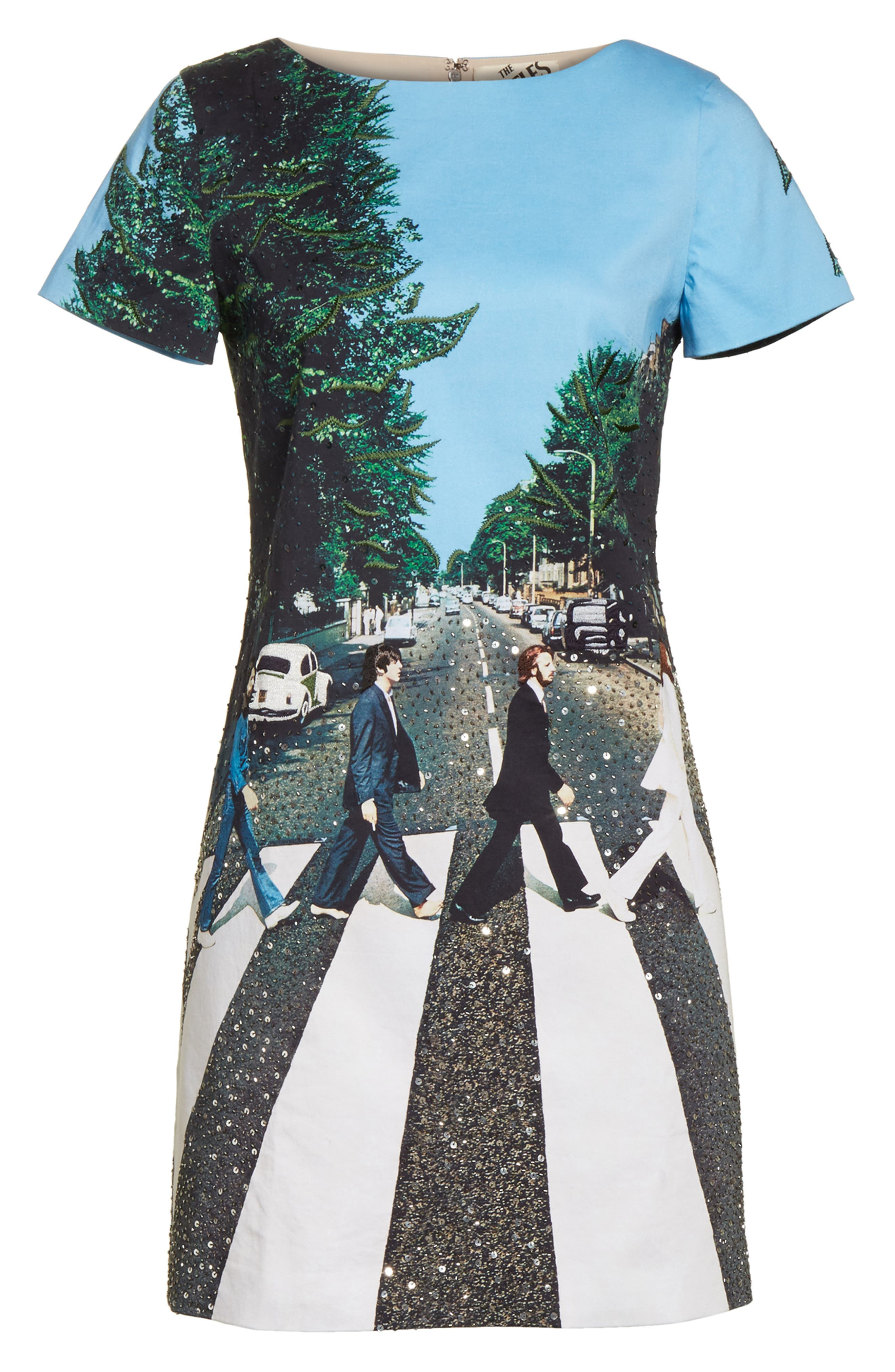 ALICE + OLIVIA,                             AO x The Beatles Sequined Shift Dress,                             Alternate thumbnail 6, color,                             473