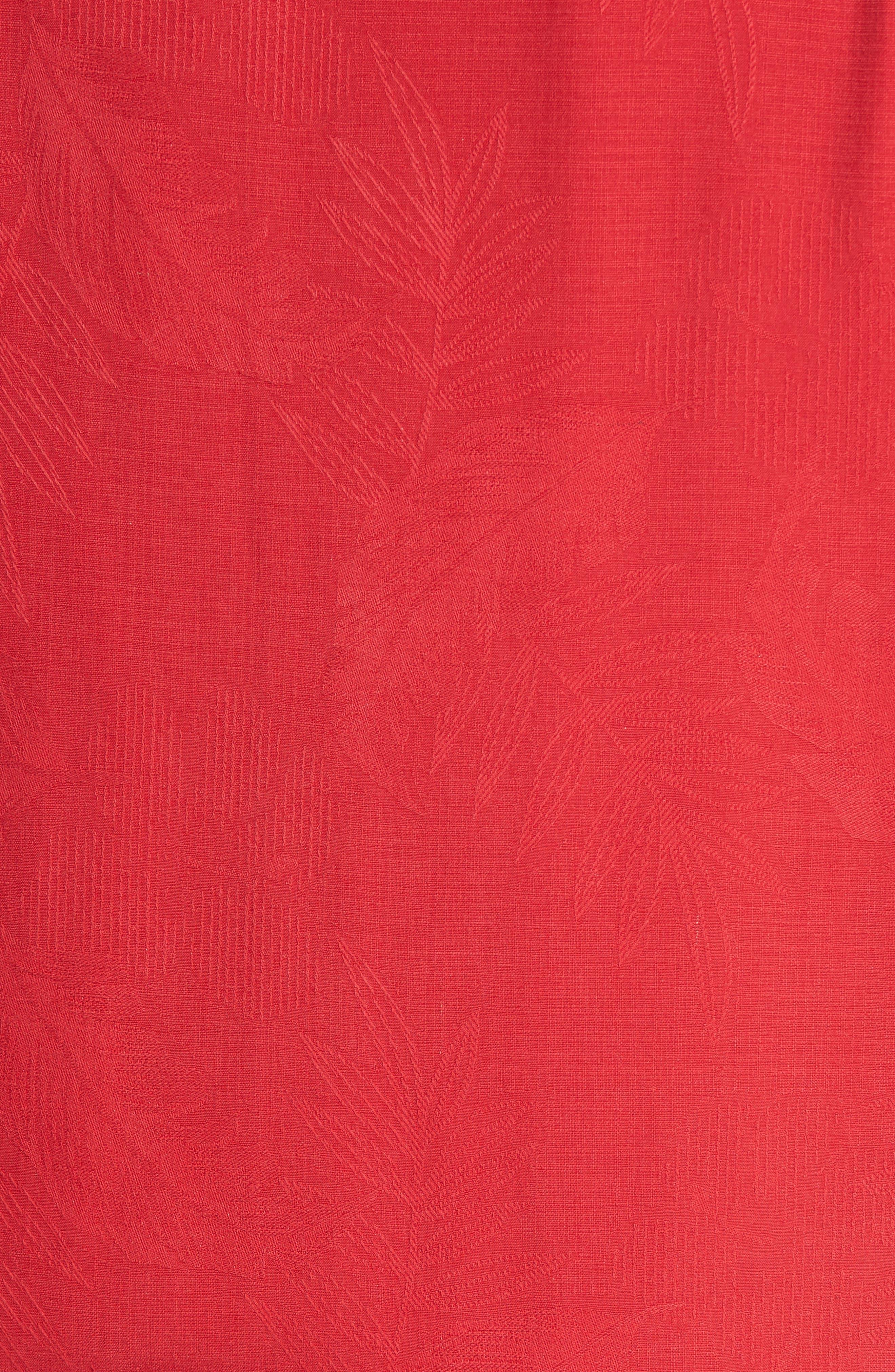 Rio Fronds Short Sleeve Silk Sport Shirt,                             Alternate thumbnail 82, color,