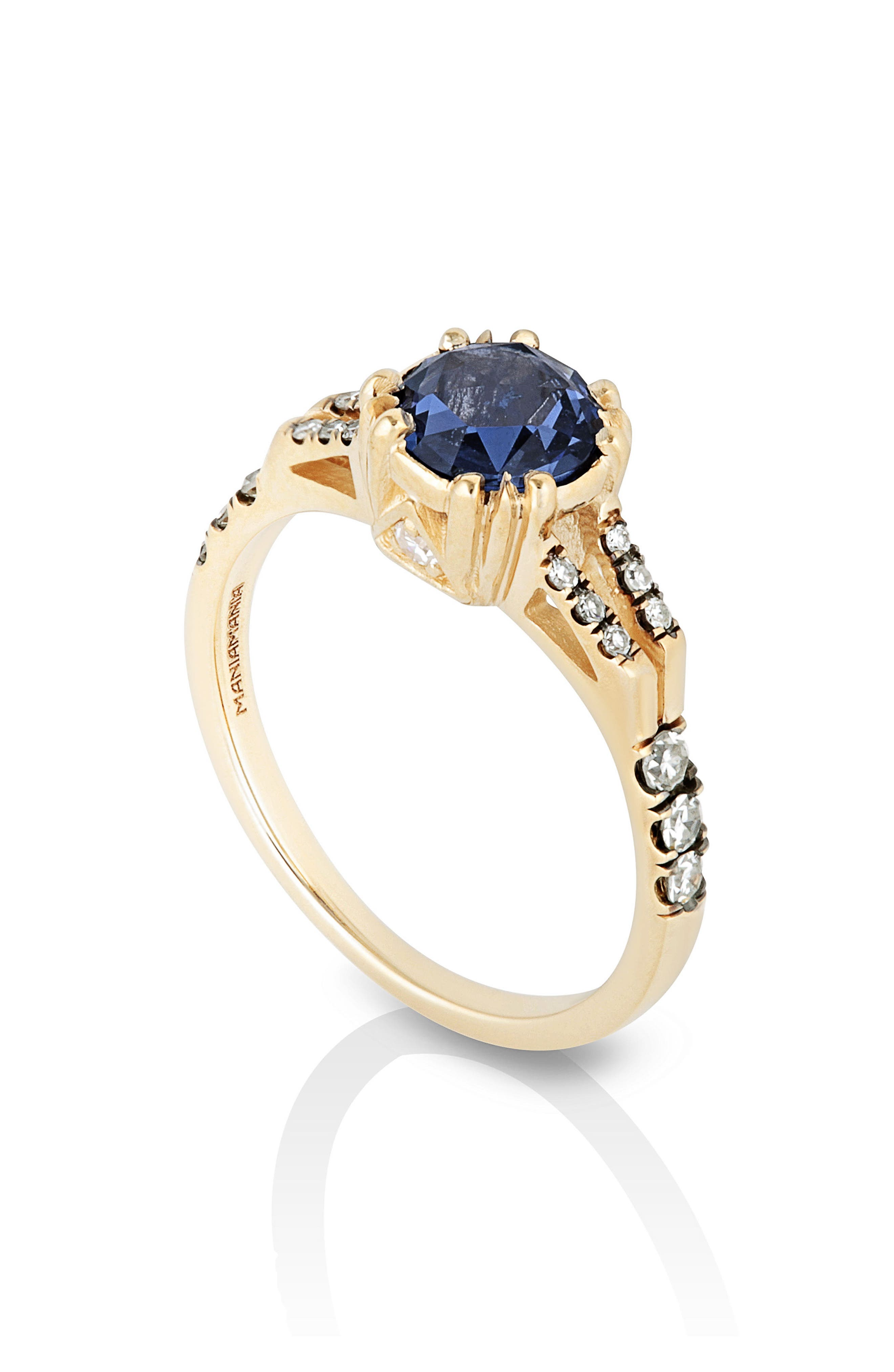 MANIAMANIA,                             Beloved Sapphire Solitaire Ring,                             Alternate thumbnail 2, color,                             BLUE SAPPHIRE