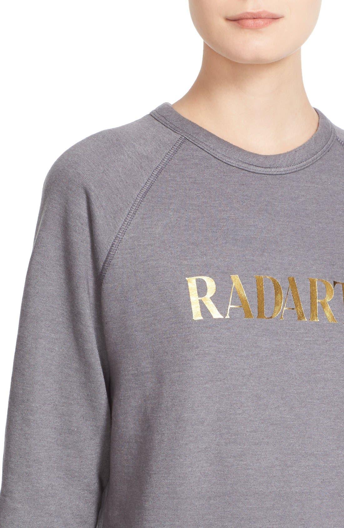 'Radarte' Foil Sweatshirt,                             Alternate thumbnail 2, color,                             022