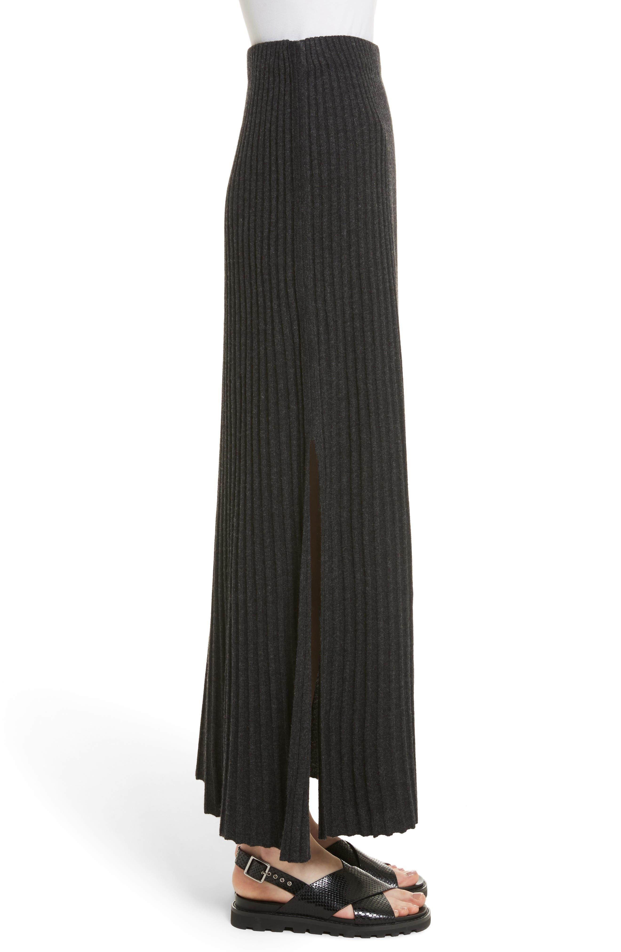 Joelle Rib Knit Maxi Skirt,                             Alternate thumbnail 3, color,                             020