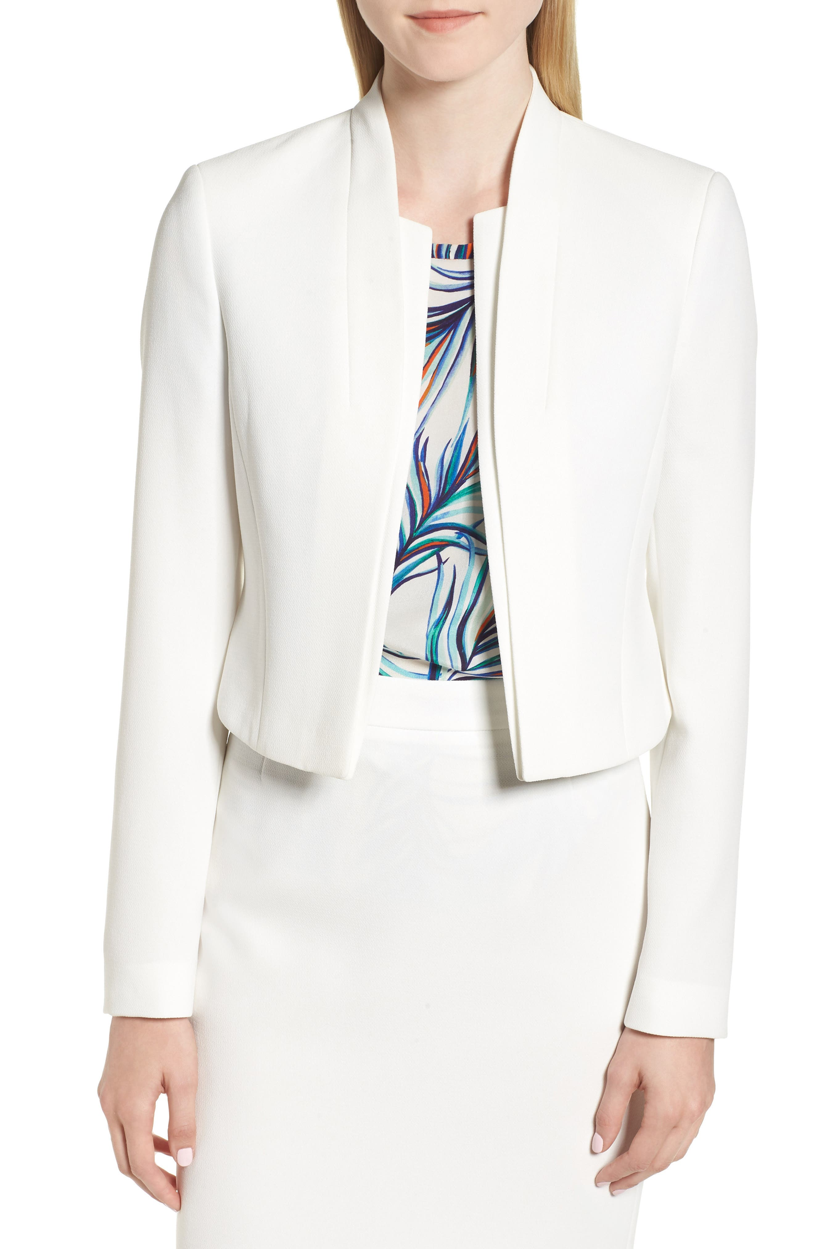 Jasika Crop Suit Jacket,                         Main,                         color, VANILLA LIGHT