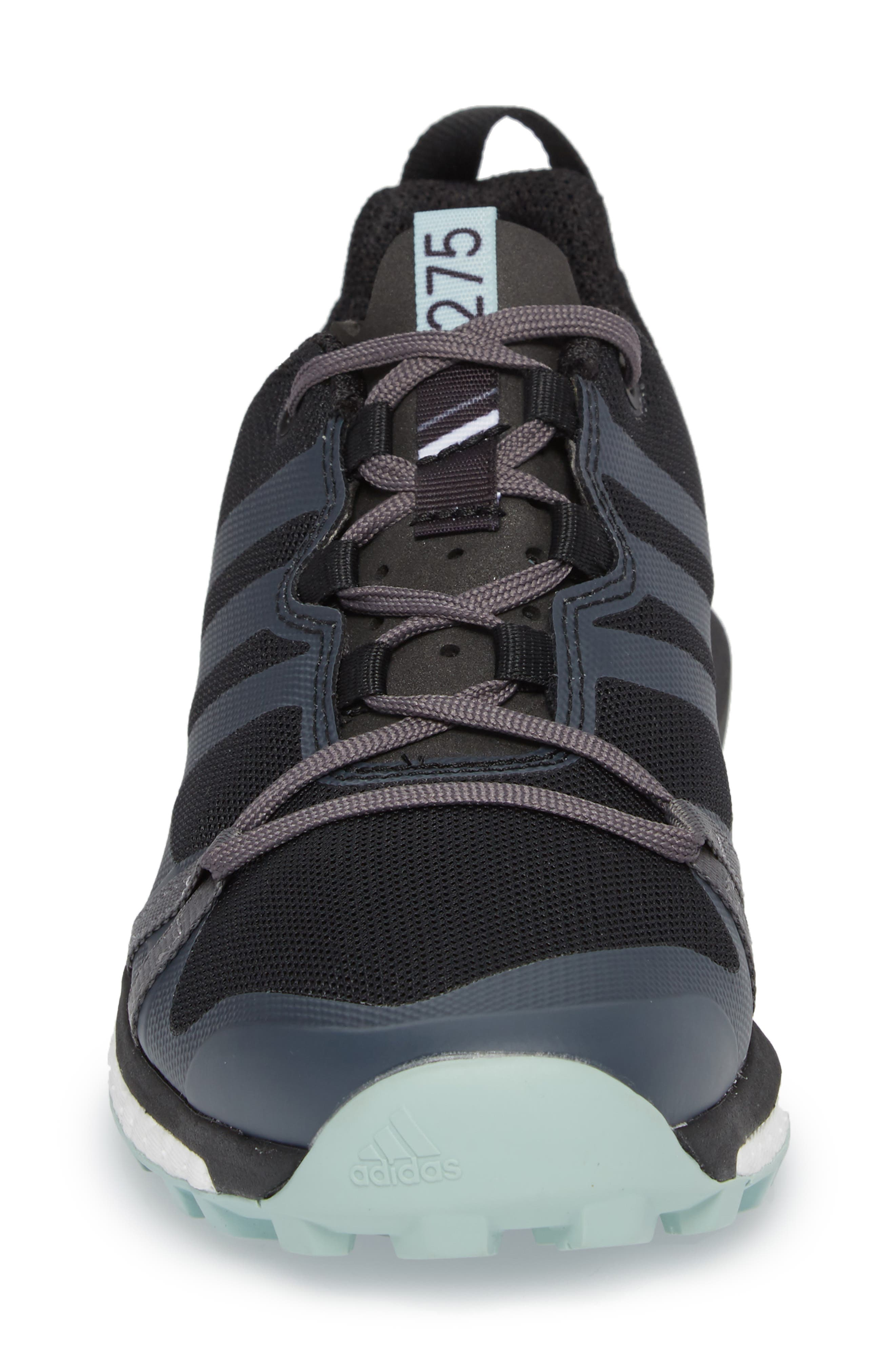 Terrex Agravic Trail Running Shoe,                             Alternate thumbnail 4, color,                             BLACK/ GREY THREE/ ASH GREEN