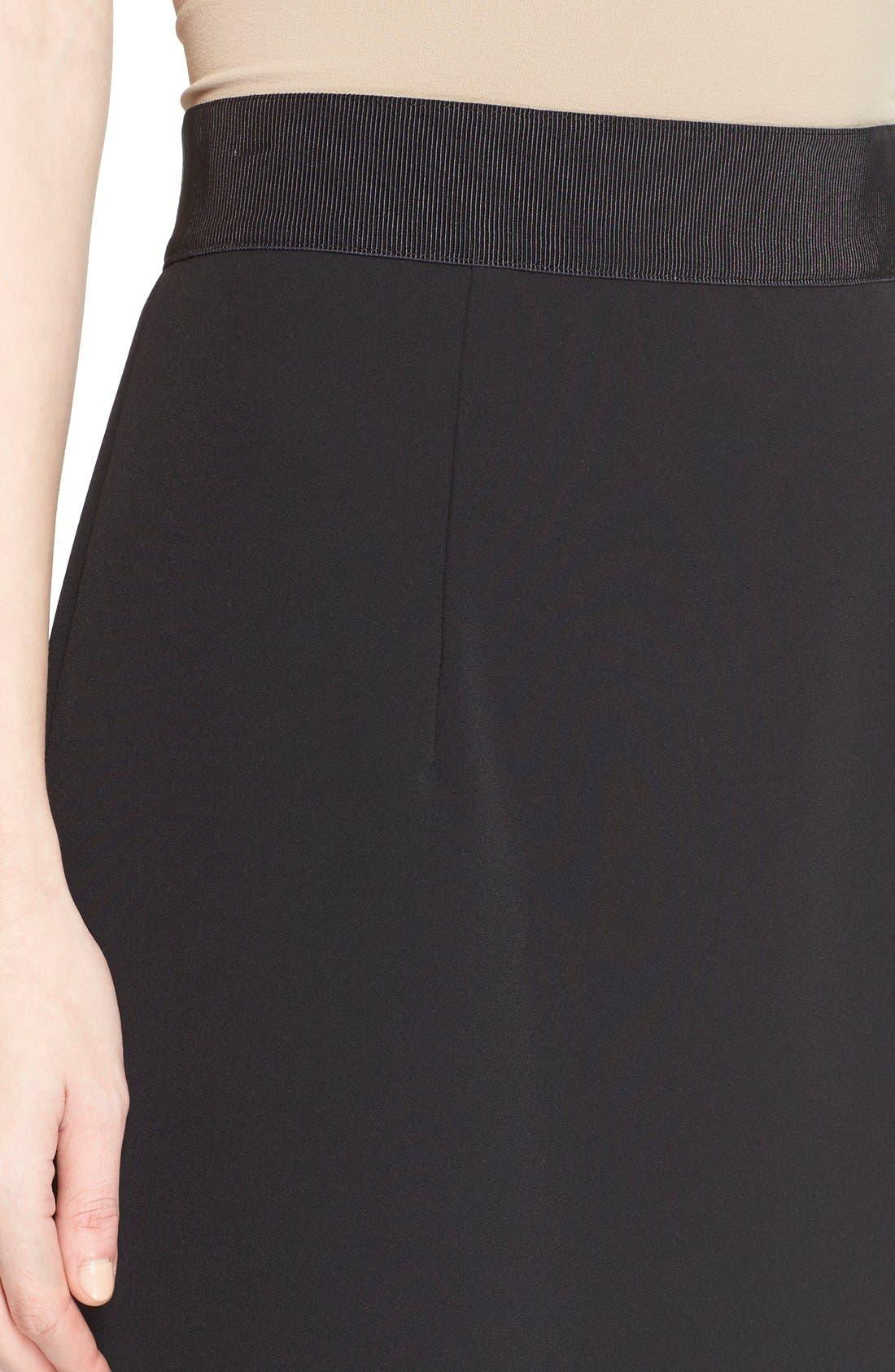 Italian Cady Pencil Skirt,                             Alternate thumbnail 3, color,                             001