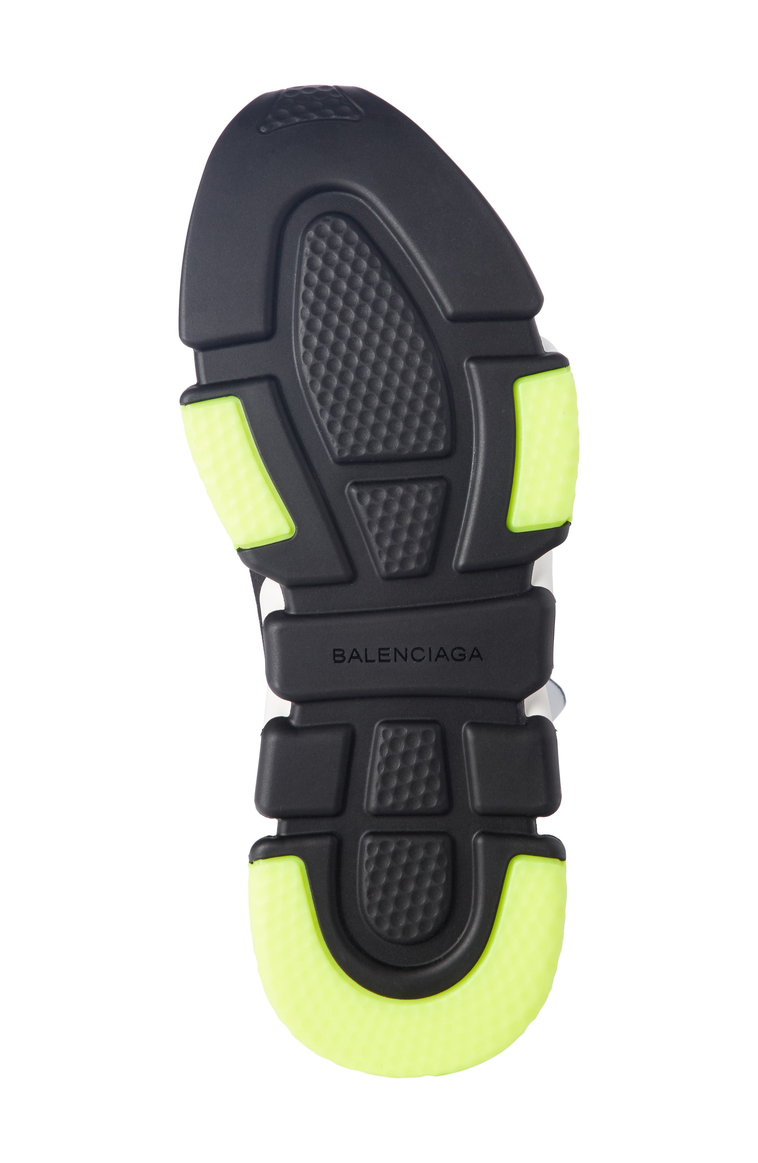 Speed Trainer Cuffed Sneaker,                             Alternate thumbnail 5, color,                             NOIR/ BLANC