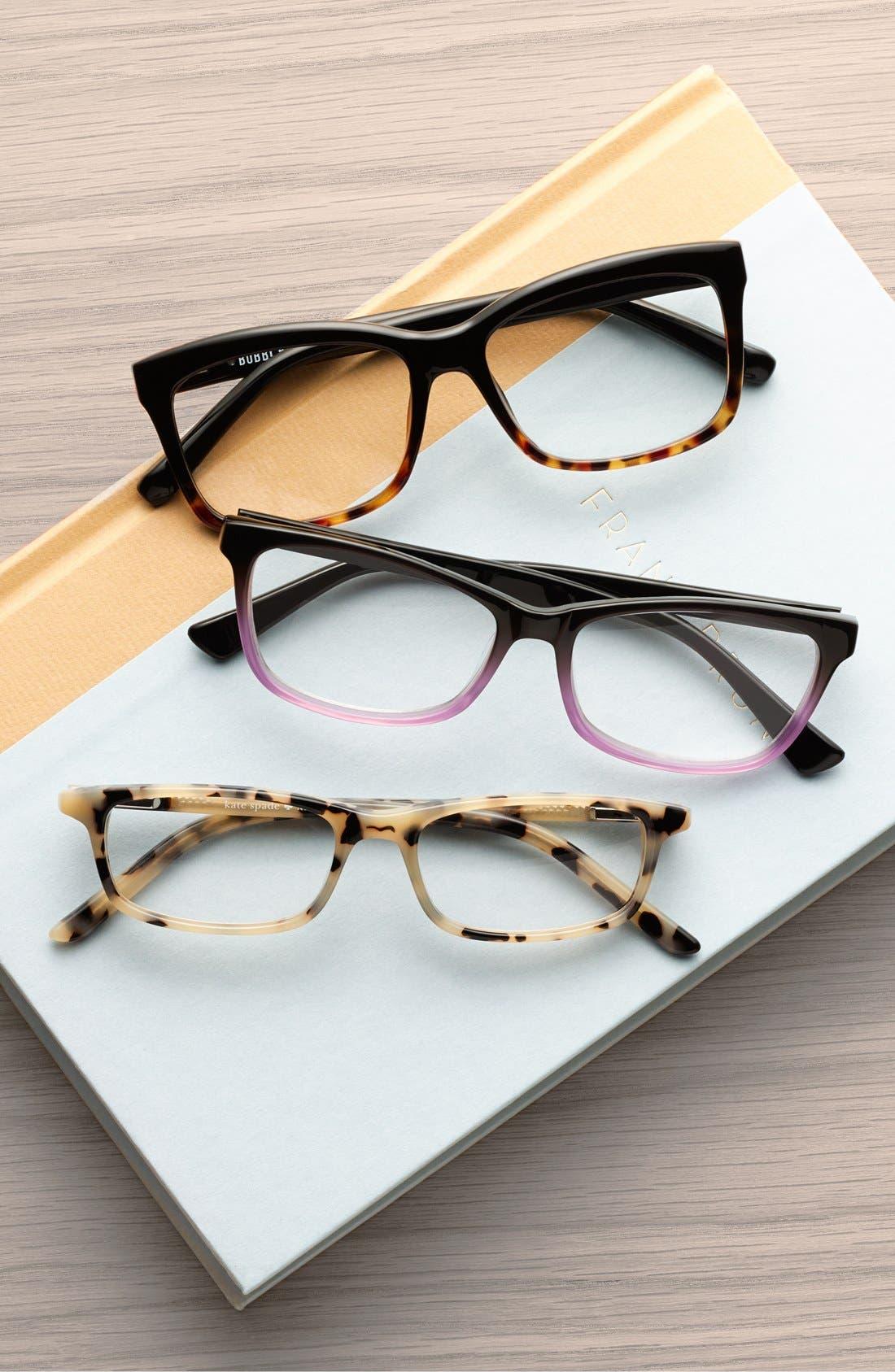 The Brooklyn 53mm Reading Glasses,                             Alternate thumbnail 3, color,                             TORTOISE/ BLACK