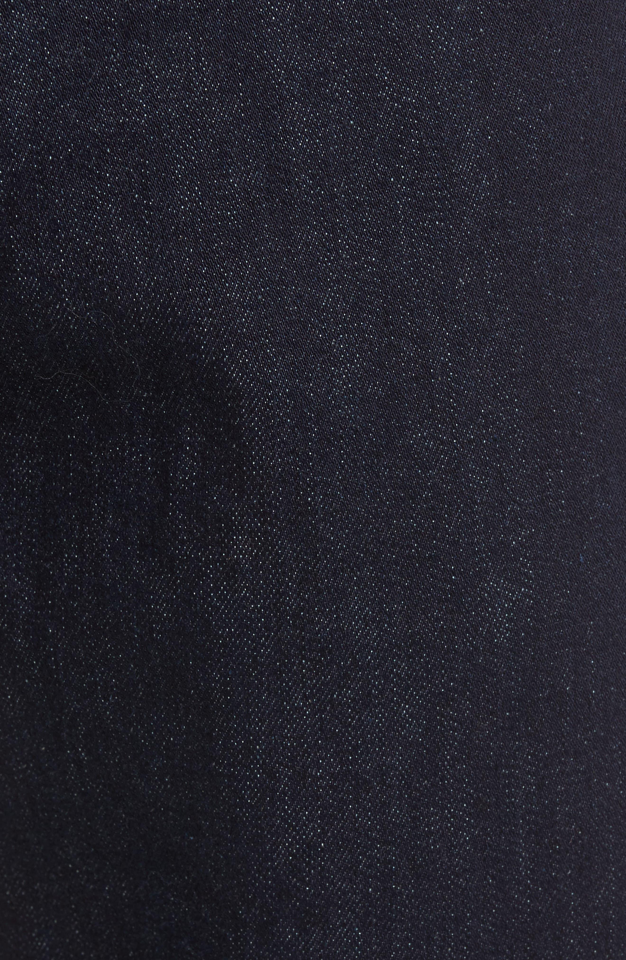 Stretch Slim Fit Raw Denim Jeans,                             Alternate thumbnail 5, color,                             400