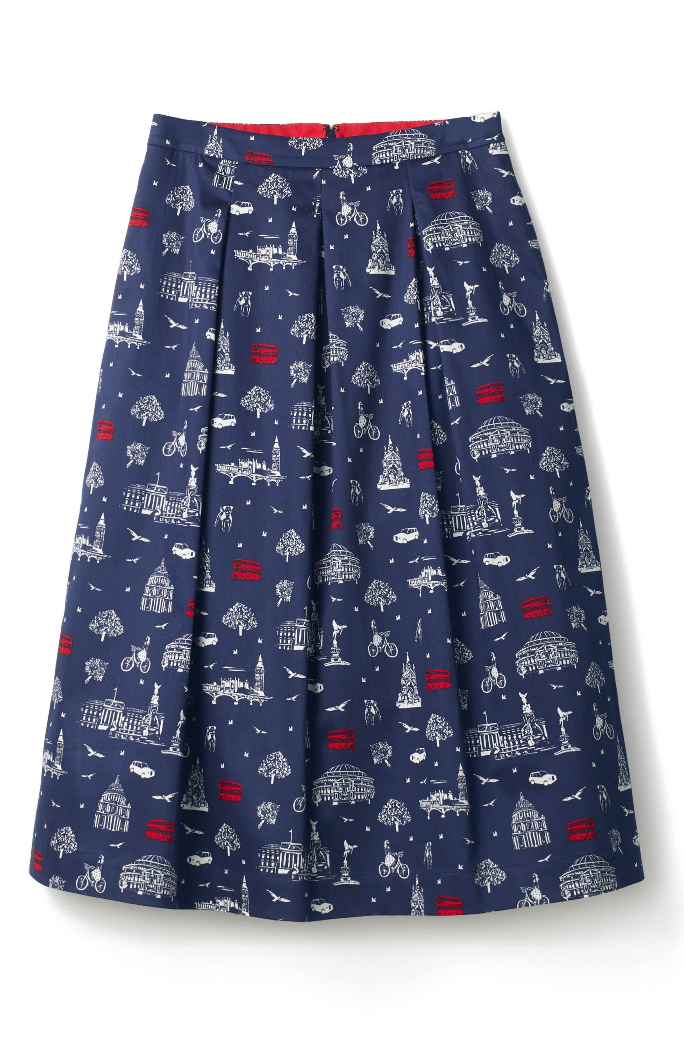 Lola Floral Flared Skirt,                             Alternate thumbnail 16, color,