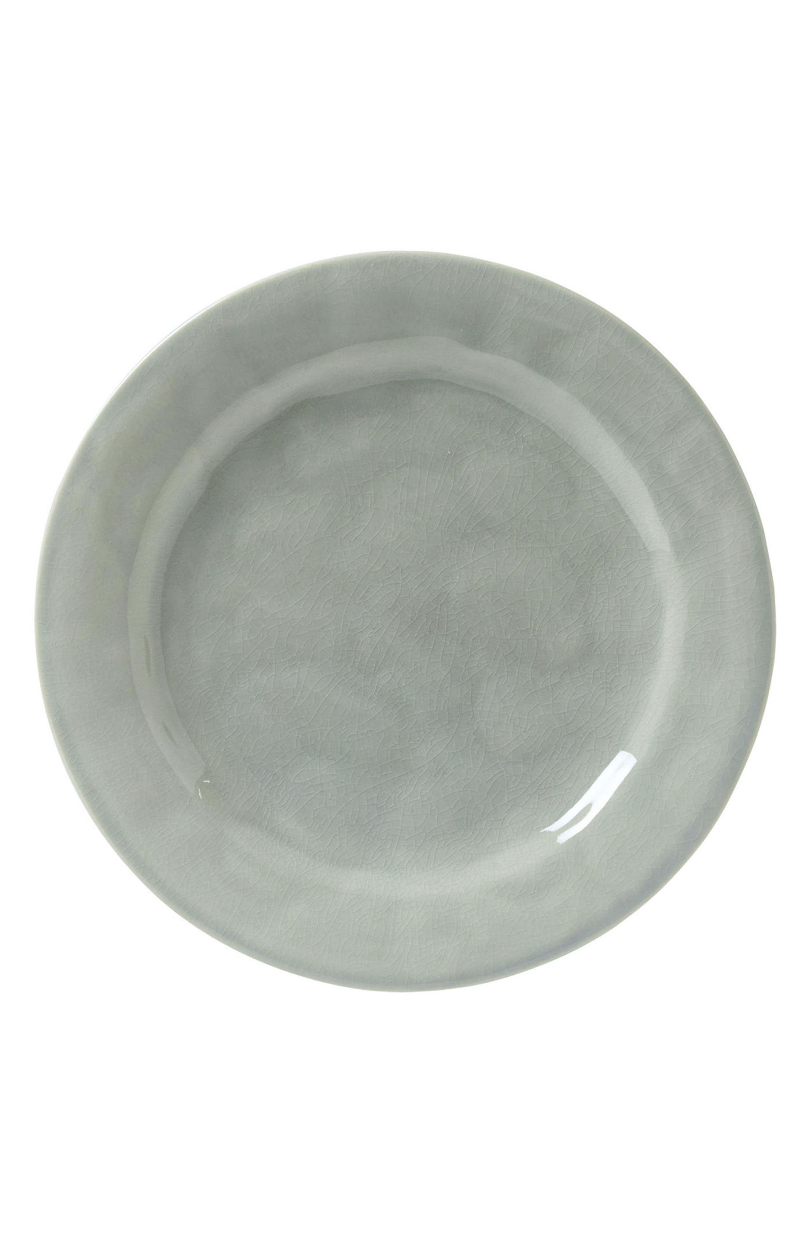 JULISKA Puro Dessert Plate, Main, color, MIST GREY CRACKLE
