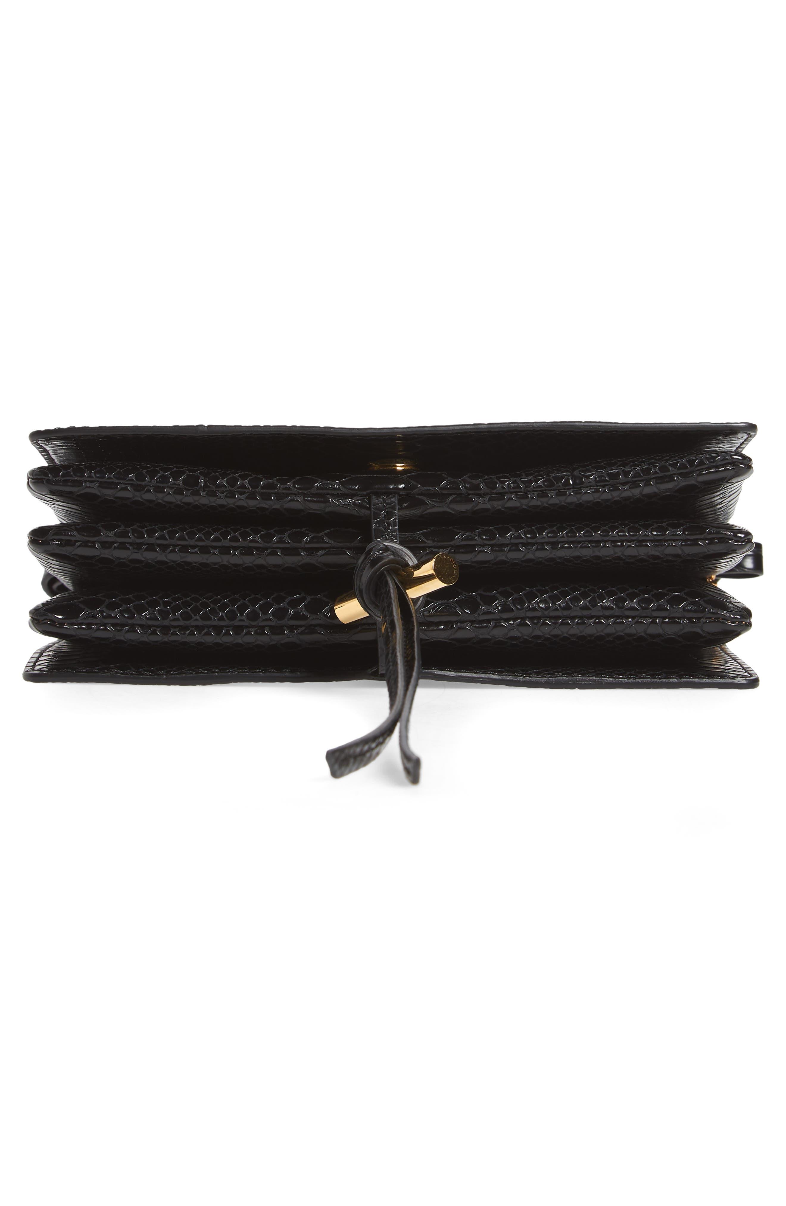 Small Flo Alter Snake Faux Leather Shoulder Bag,                             Alternate thumbnail 7, color,                             001