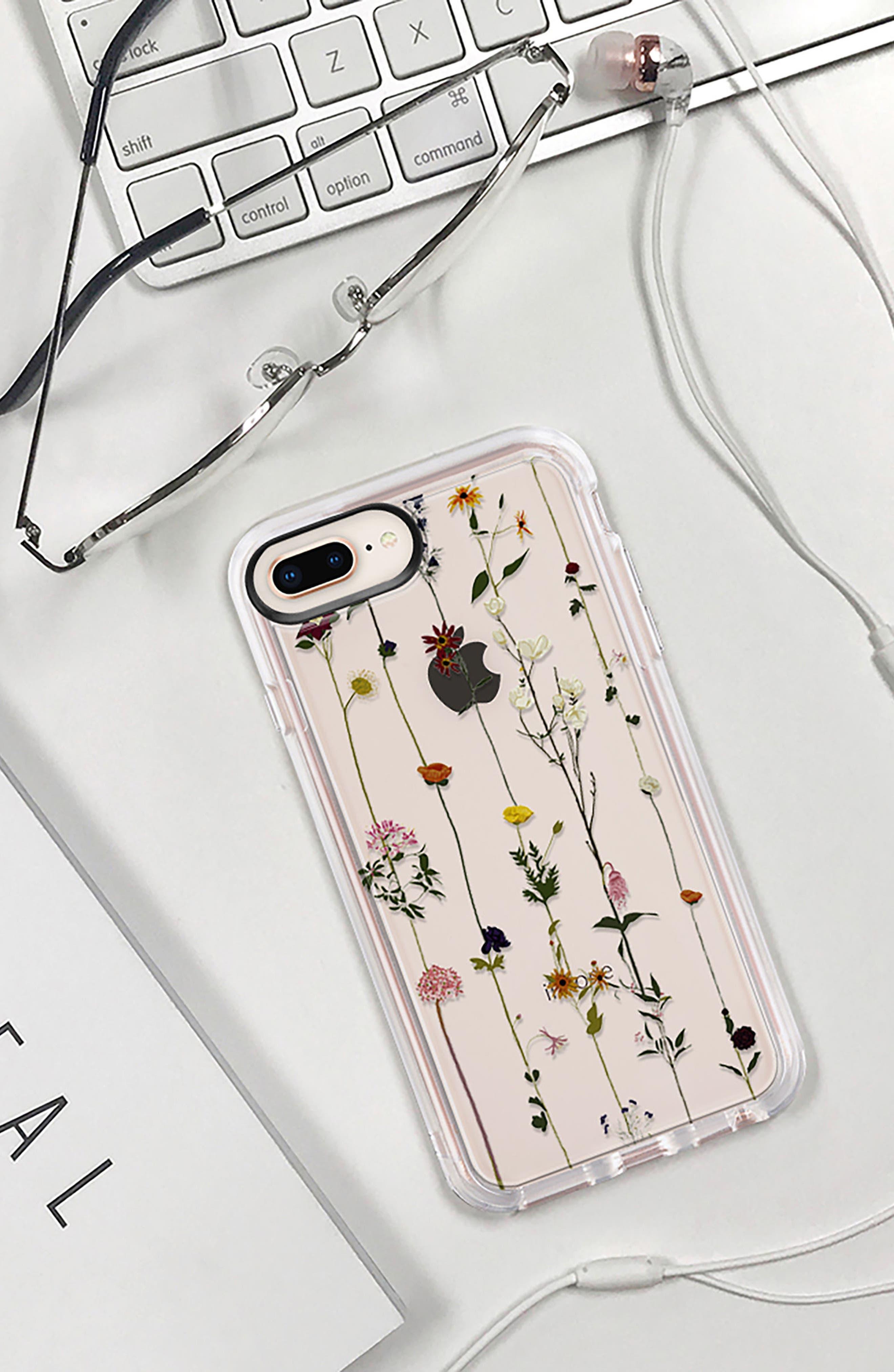 Floral Grip iPhone 7/8 & 7/8 Plus Case,                             Alternate thumbnail 9, color,                             CLEAR MULTI