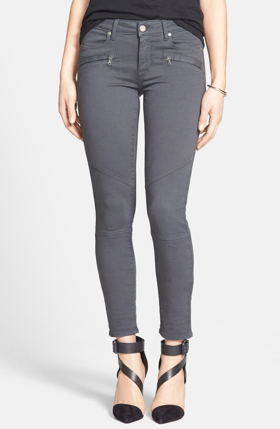 PAIGE Denim 'Liam' Moto Skinny Jeans, Main, color, 020