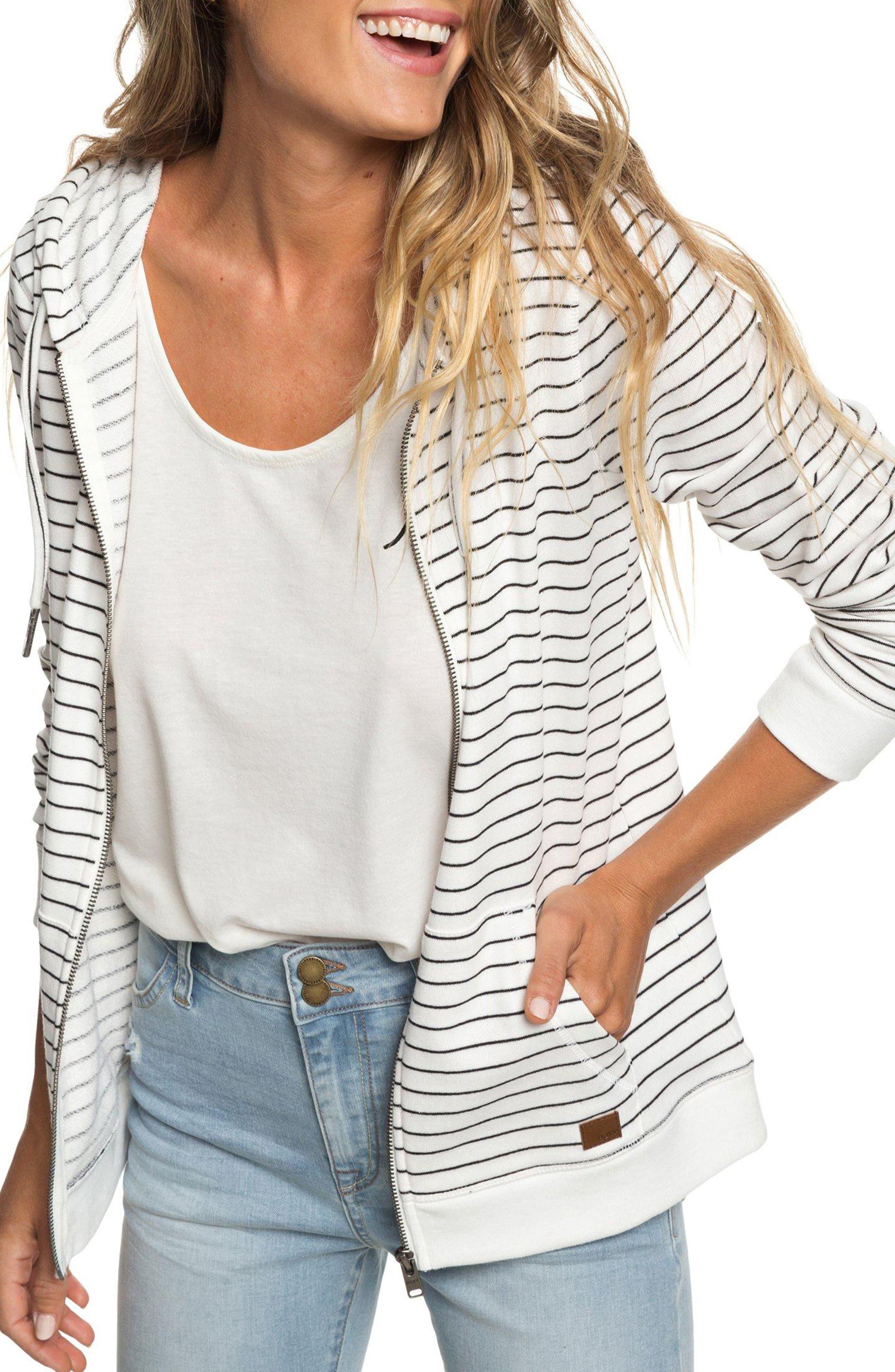 Trippin Stripe Hoodie,                         Main,                         color, TRUE BLACK ROMANTIC STRIPES