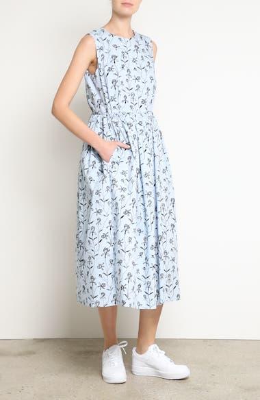 Alternate Video 7  - Sofie D'Hoore Floral Print Sleeveless Dress