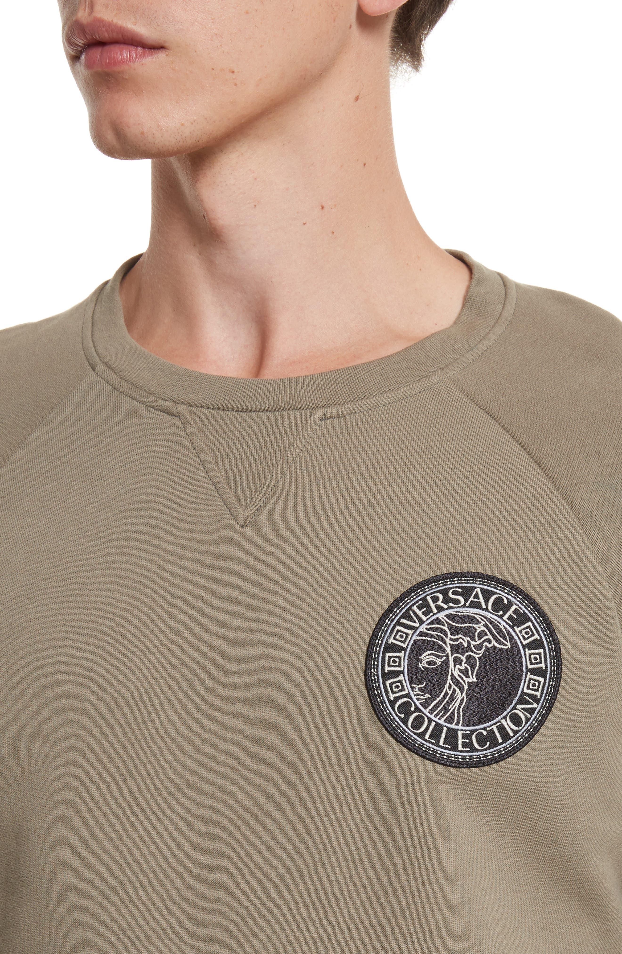 Patch Logo Sweatshirt,                             Alternate thumbnail 4, color,                             222