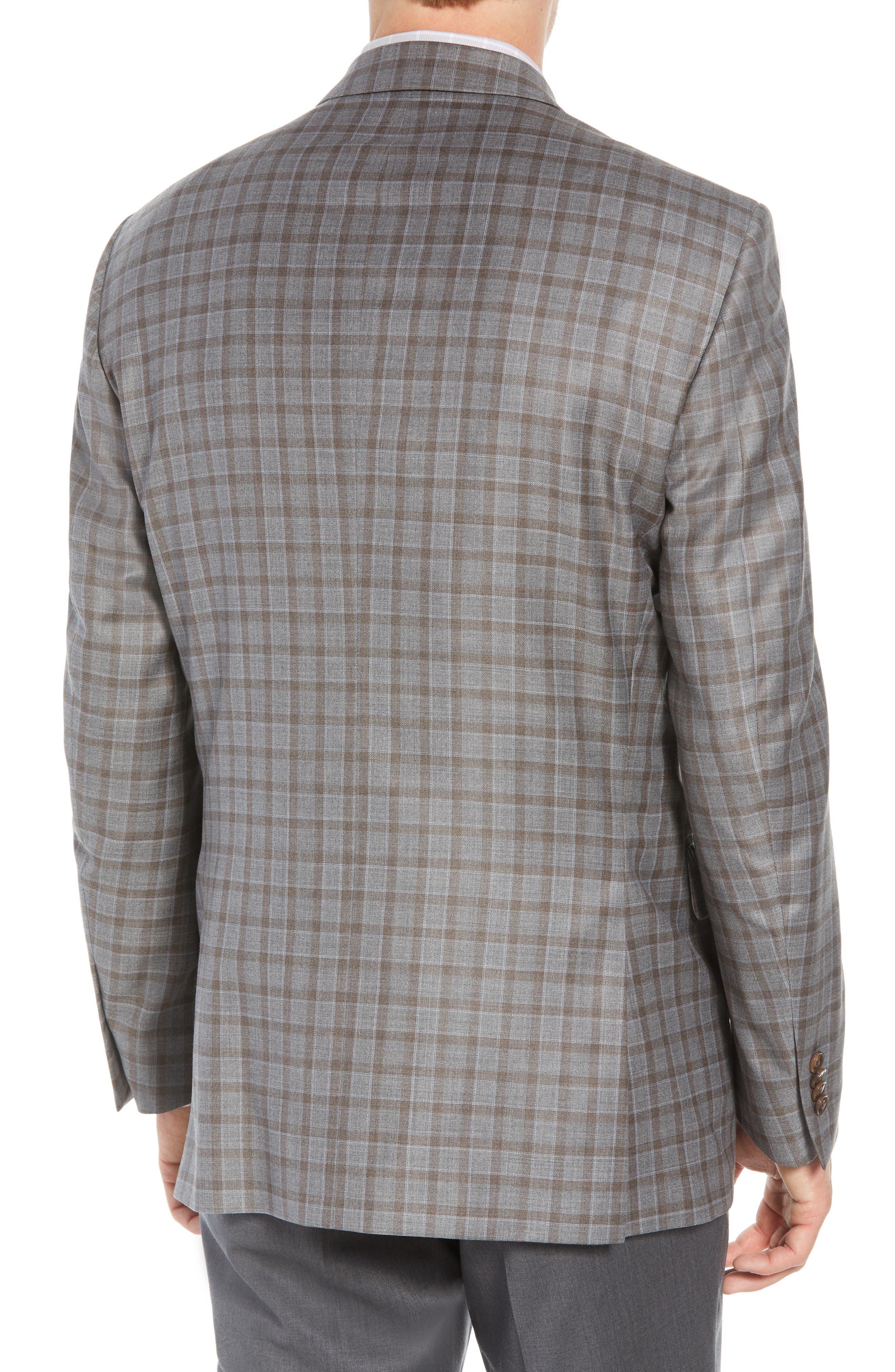Flynn Classic Fit Check Wool Sport Coat,                             Alternate thumbnail 2, color,                             TAN