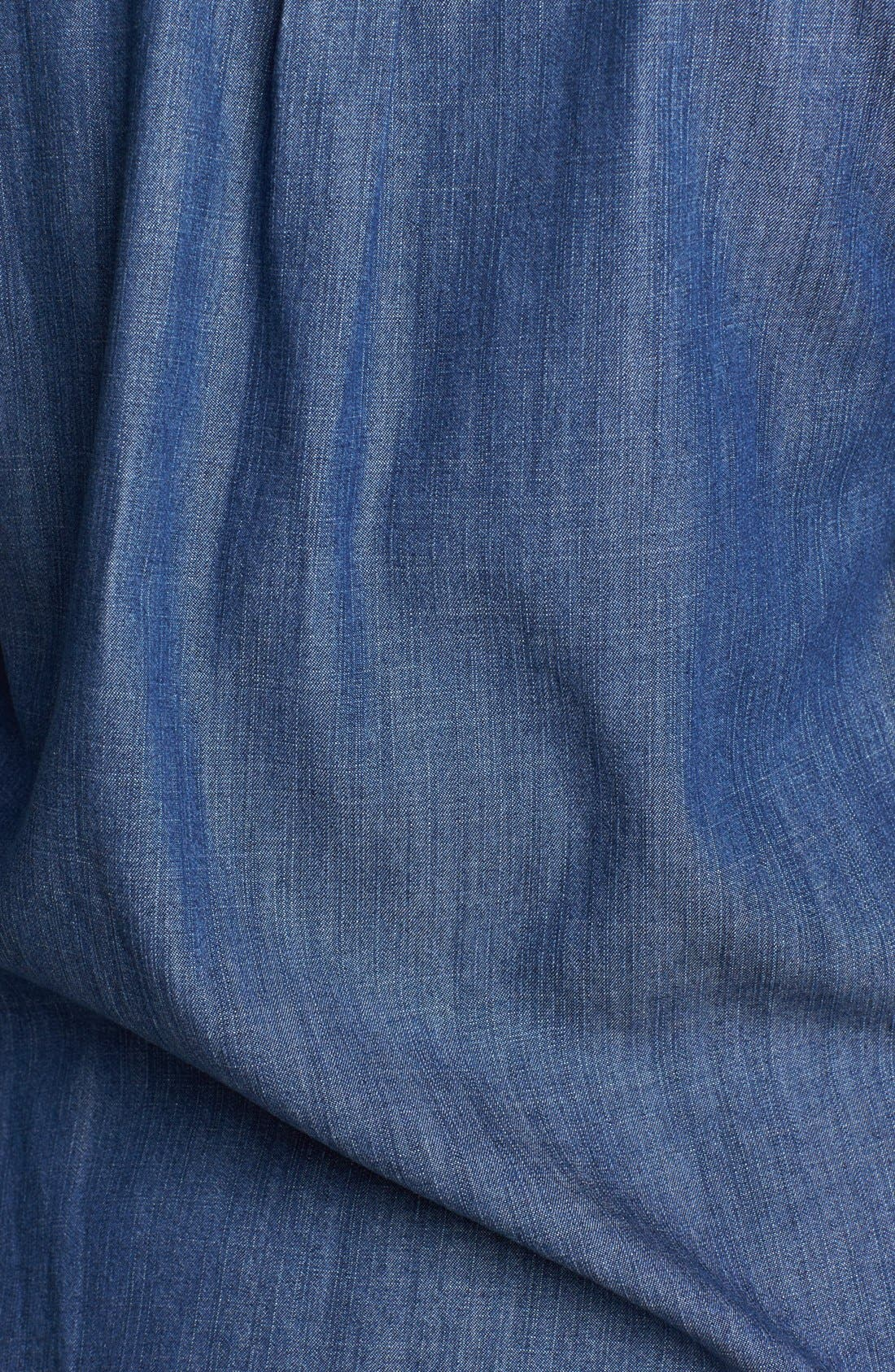 EILEEN FISHER,                             Denim Shirt,                             Alternate thumbnail 3, color,                             480