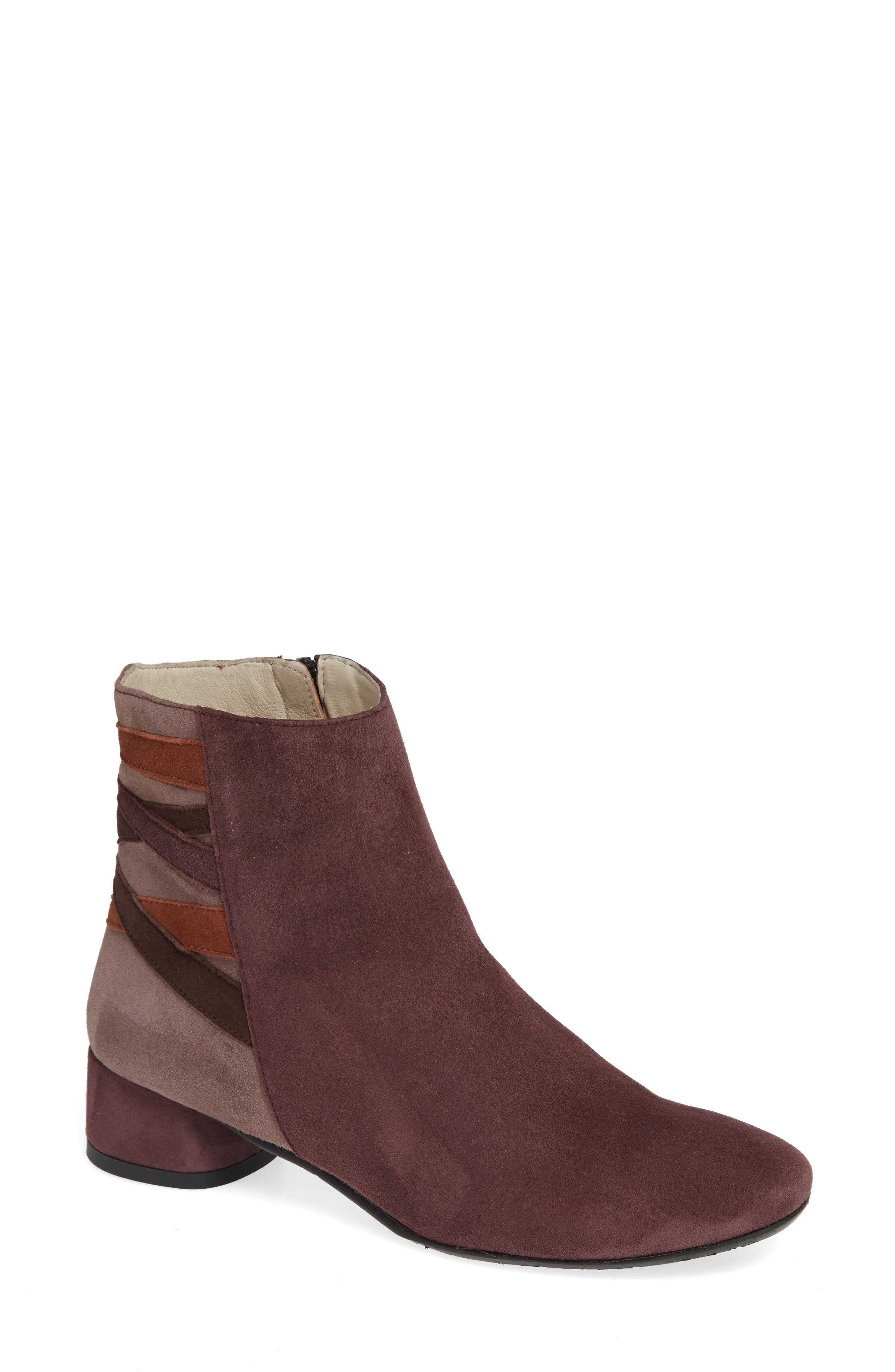 AMALFI BY RANGONI Rustico Bootie in Eggplant Suede