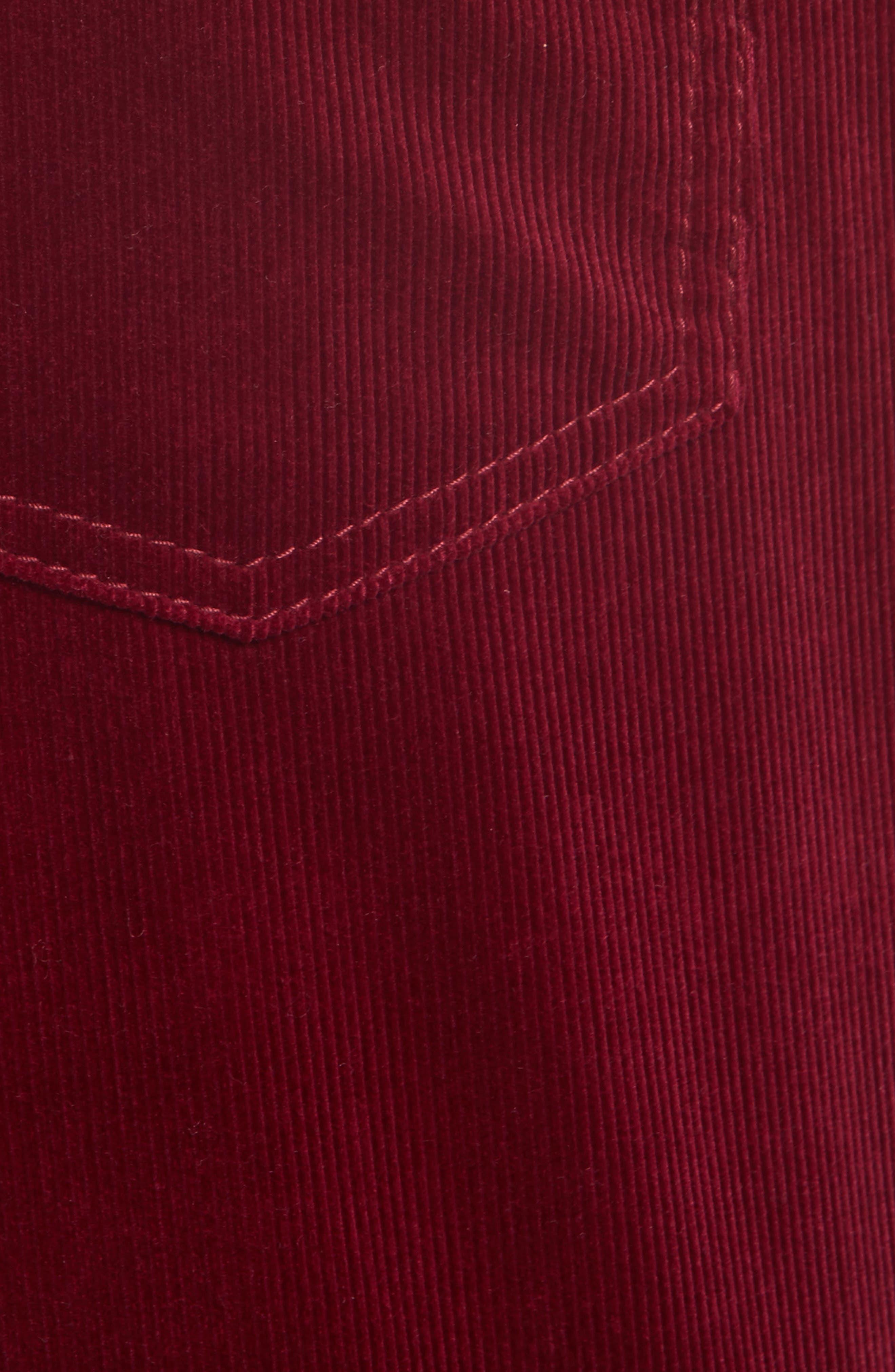 Crop Flare Corduroy Pants,                             Alternate thumbnail 5, color,                             930