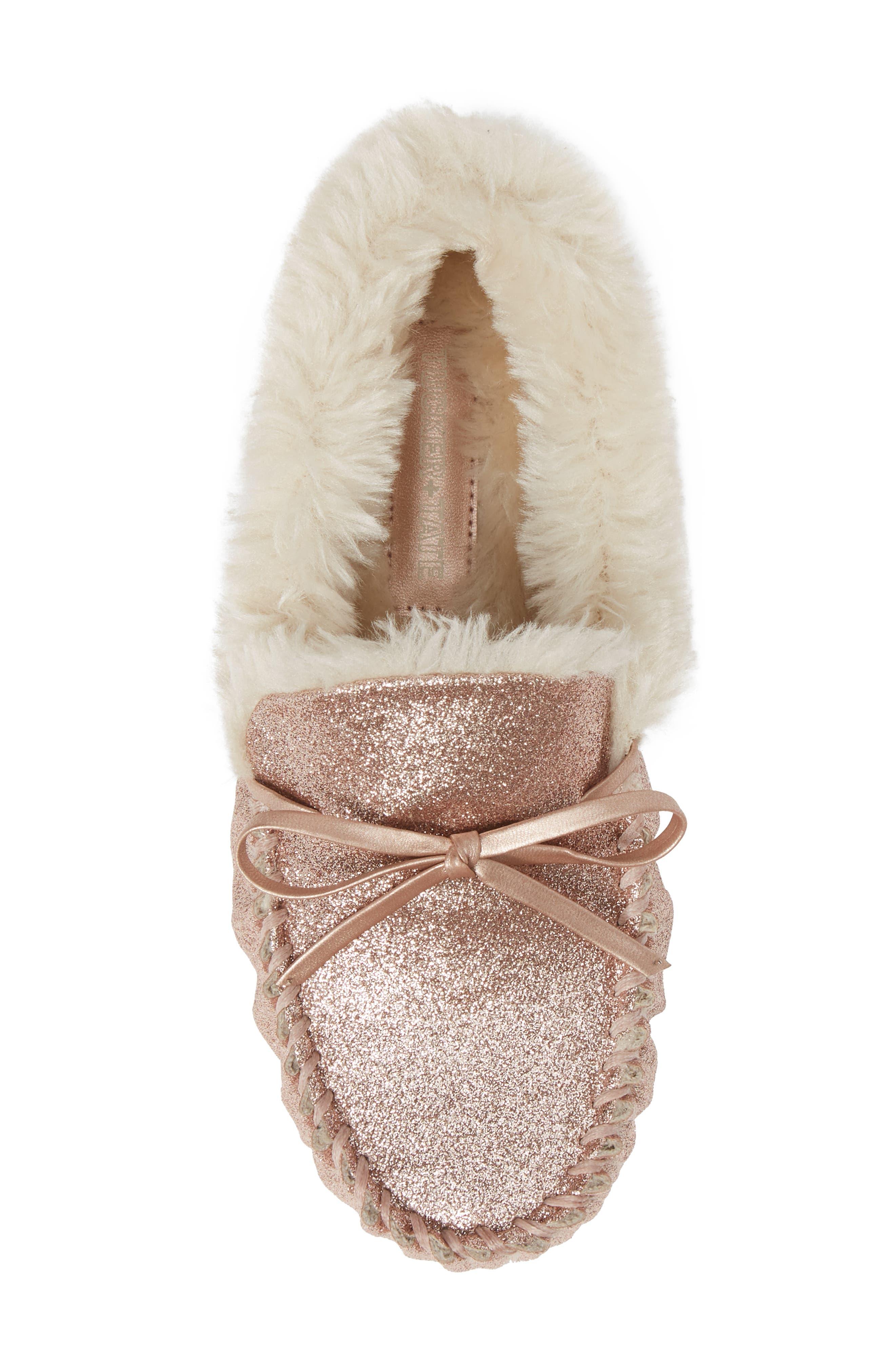 Mila Faux Fur Moccasin Slipper,                             Alternate thumbnail 5, color,                             710