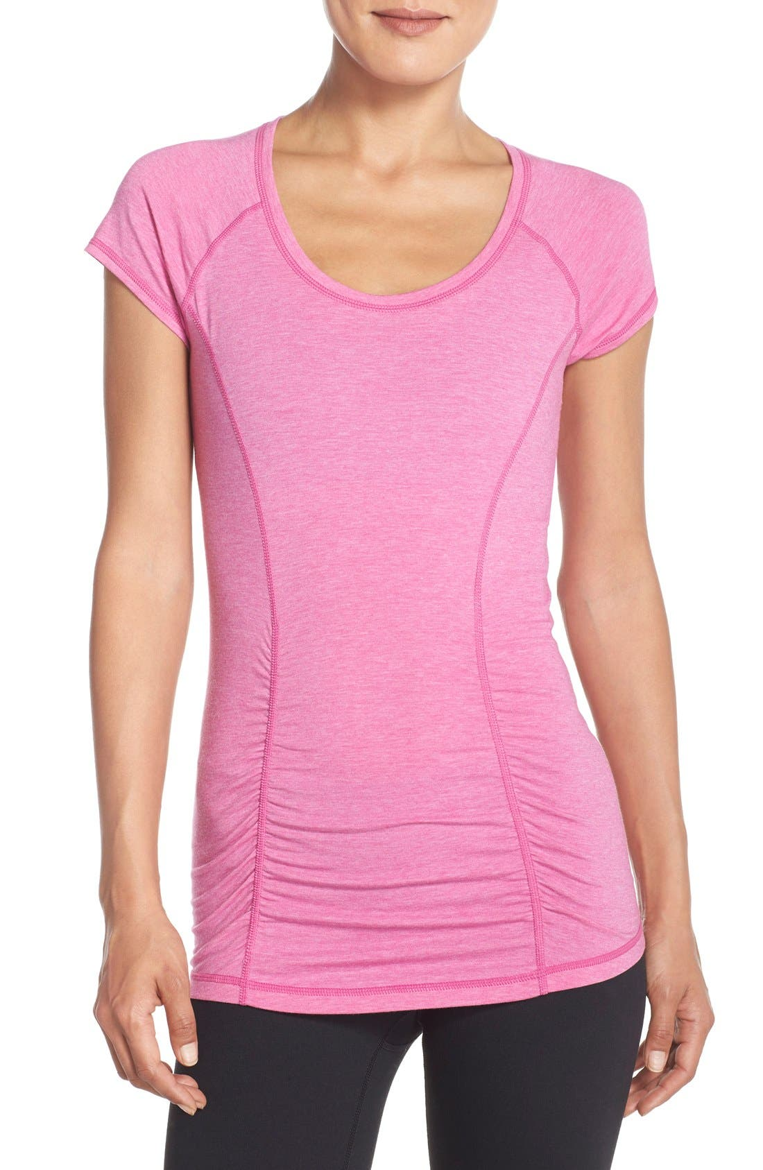 'Z 6' Ruched Tee,                             Main thumbnail 21, color,