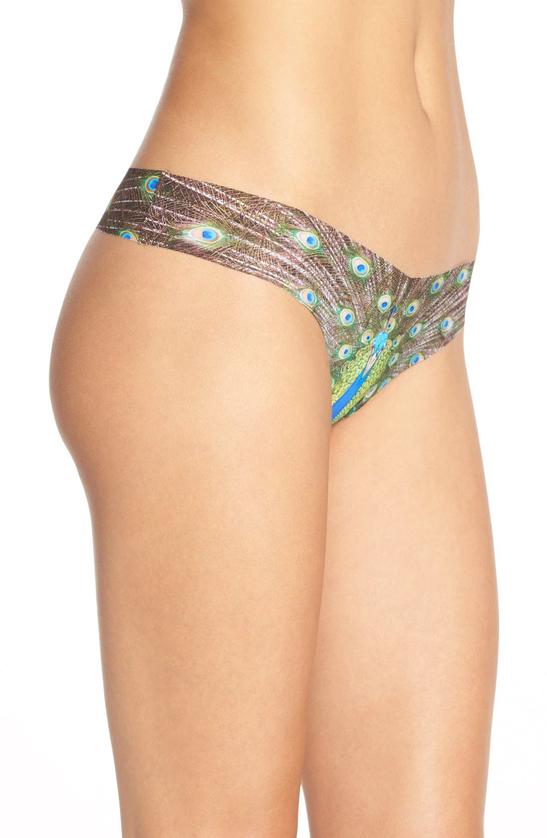 Print Microfiber Thong,                             Alternate thumbnail 291, color,