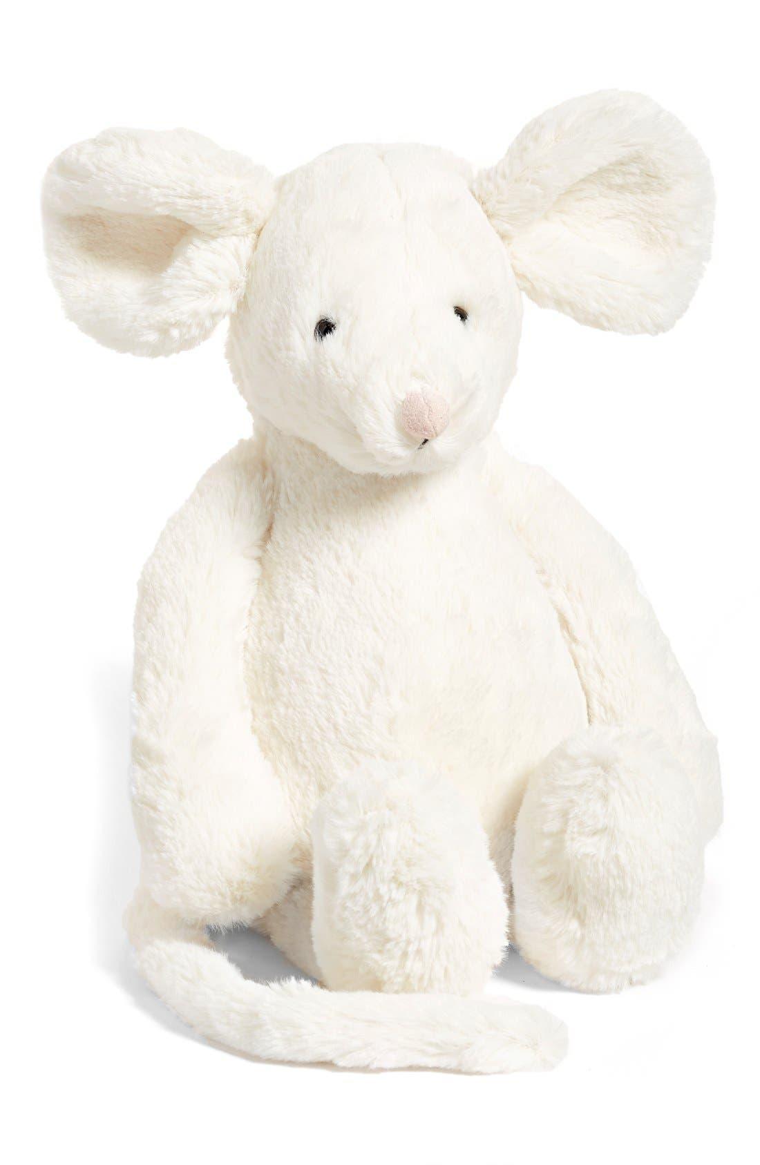 'Medium Bashful Cream Mouse' Stuffed Animal,                             Main thumbnail 1, color,                             CREAM