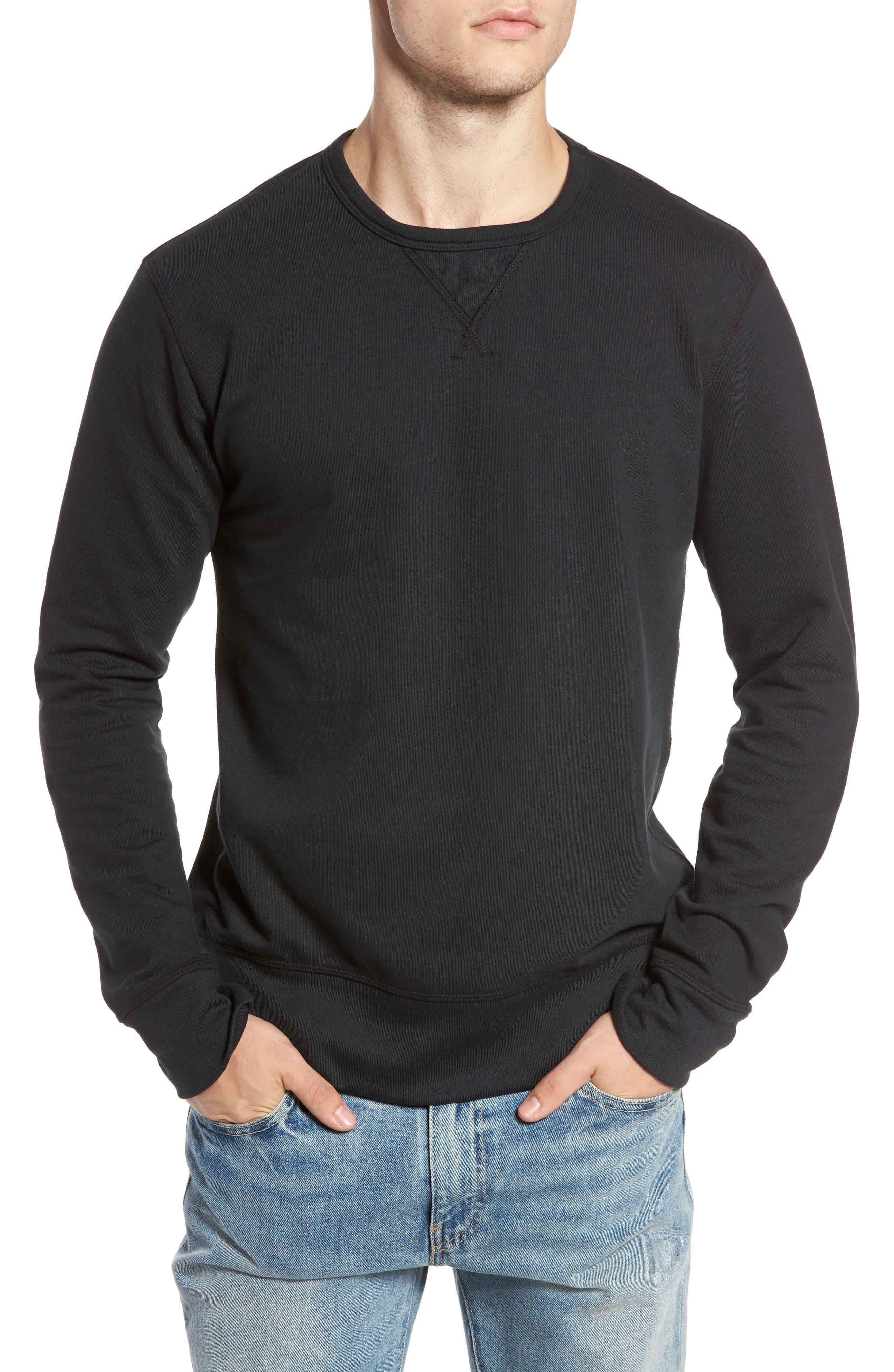B-Side Reversible Crewneck Sweatshirt,                         Main,                         color, 001