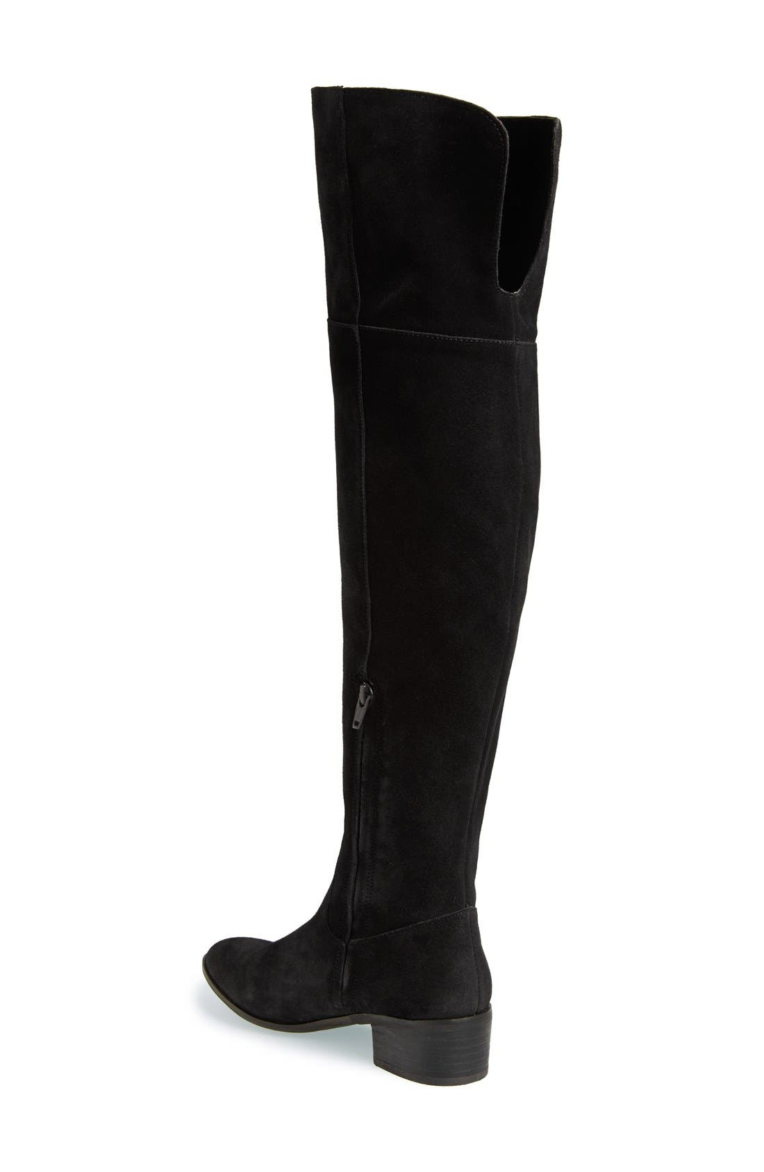 Suede Over the Knee Boot,                             Alternate thumbnail 3, color,                             006