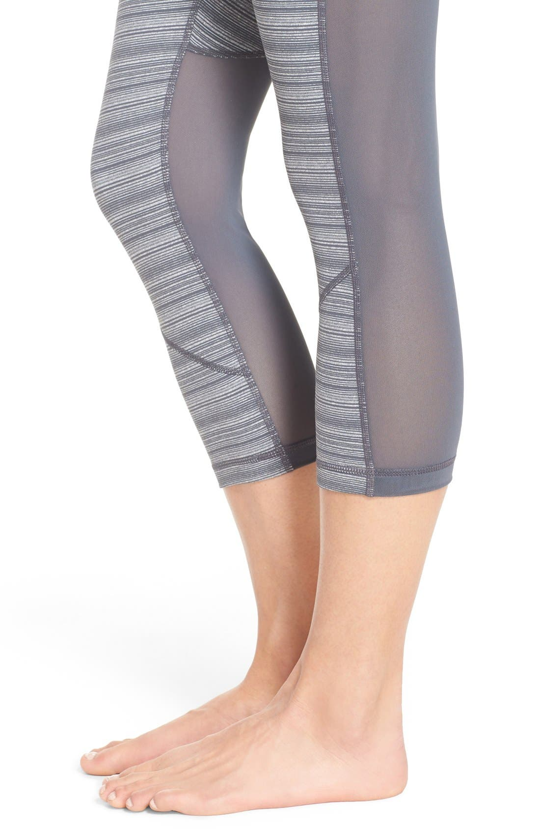 'Live In - Sultry' High Waist Mesh Crop Leggings,                             Alternate thumbnail 38, color,