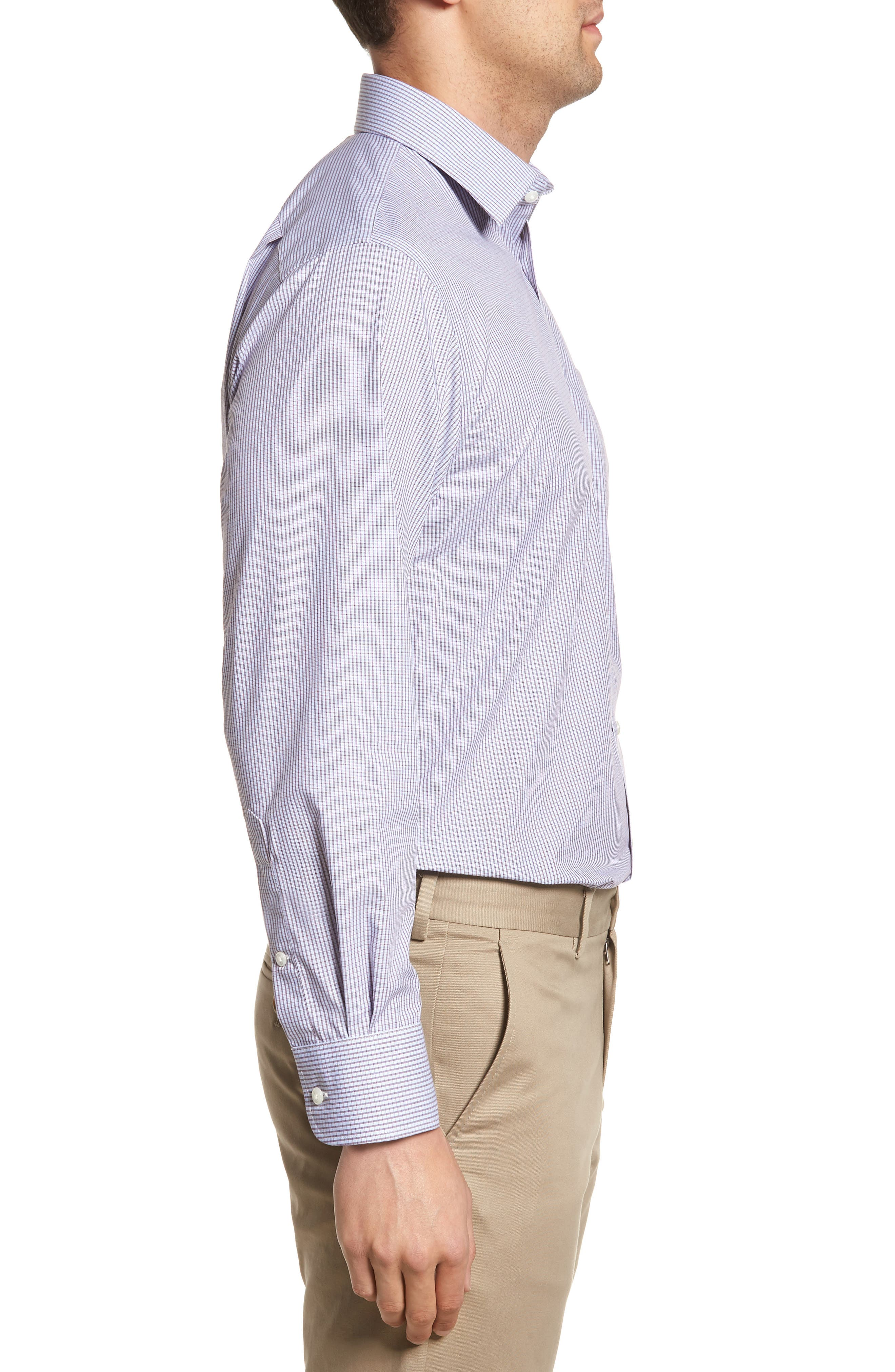Traditional Fit Non-Iron Check Dress Shirt,                             Alternate thumbnail 12, color,