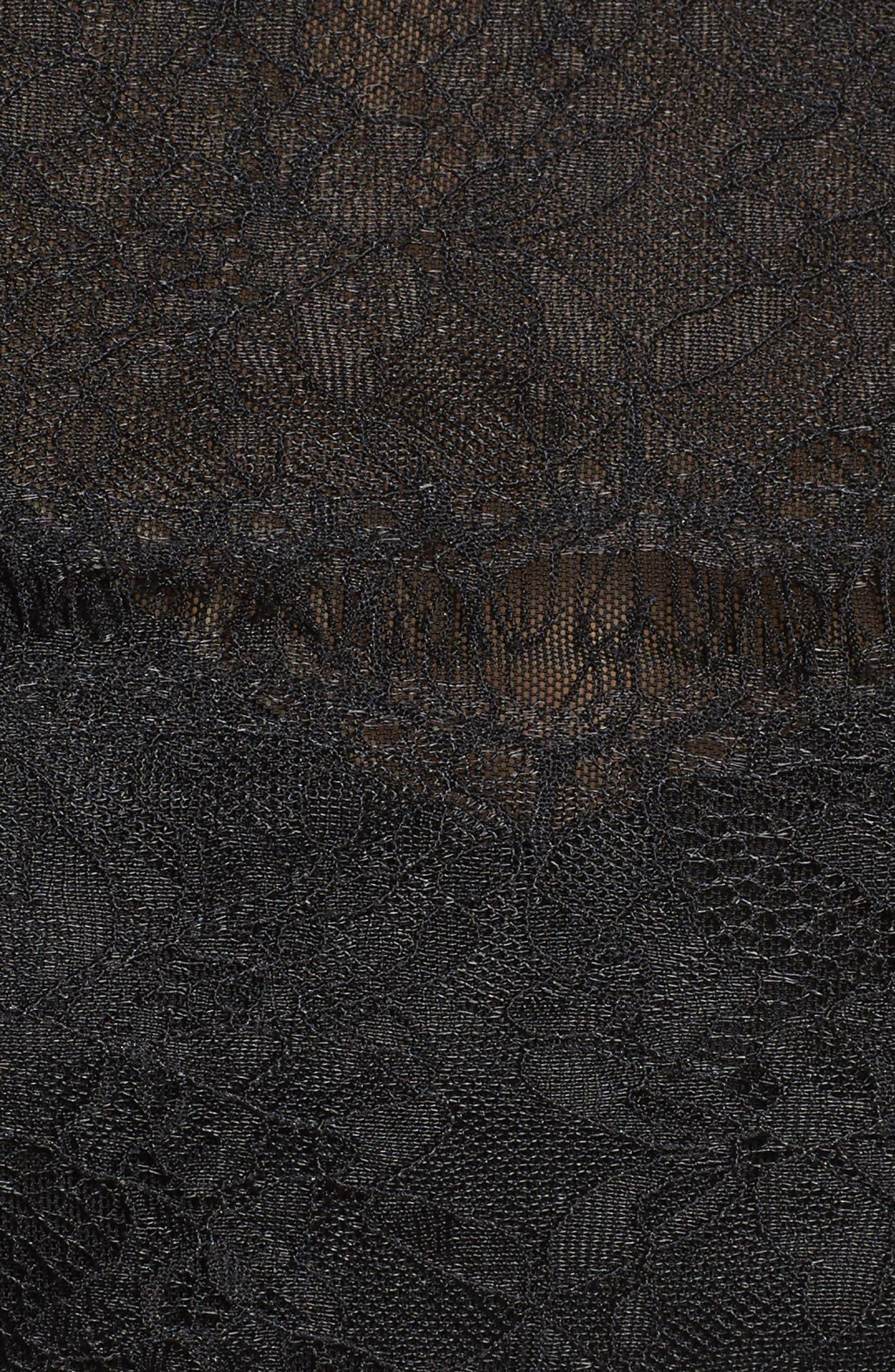 Lace & Mesh Top,                             Alternate thumbnail 5, color,                             001