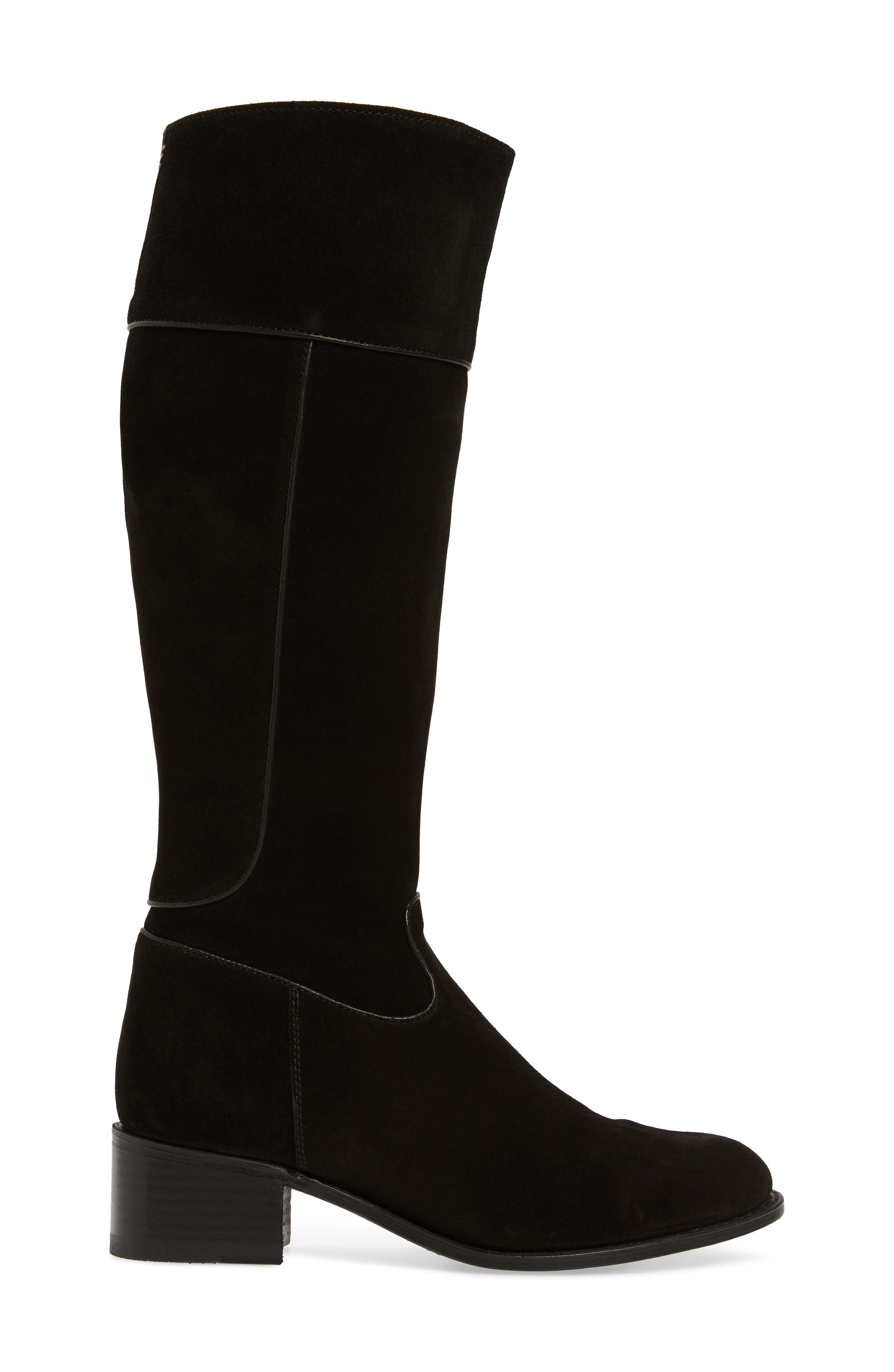 Two24 by Ariat Barcelona Boot,                             Alternate thumbnail 3, color,                             BLACK SUEDE
