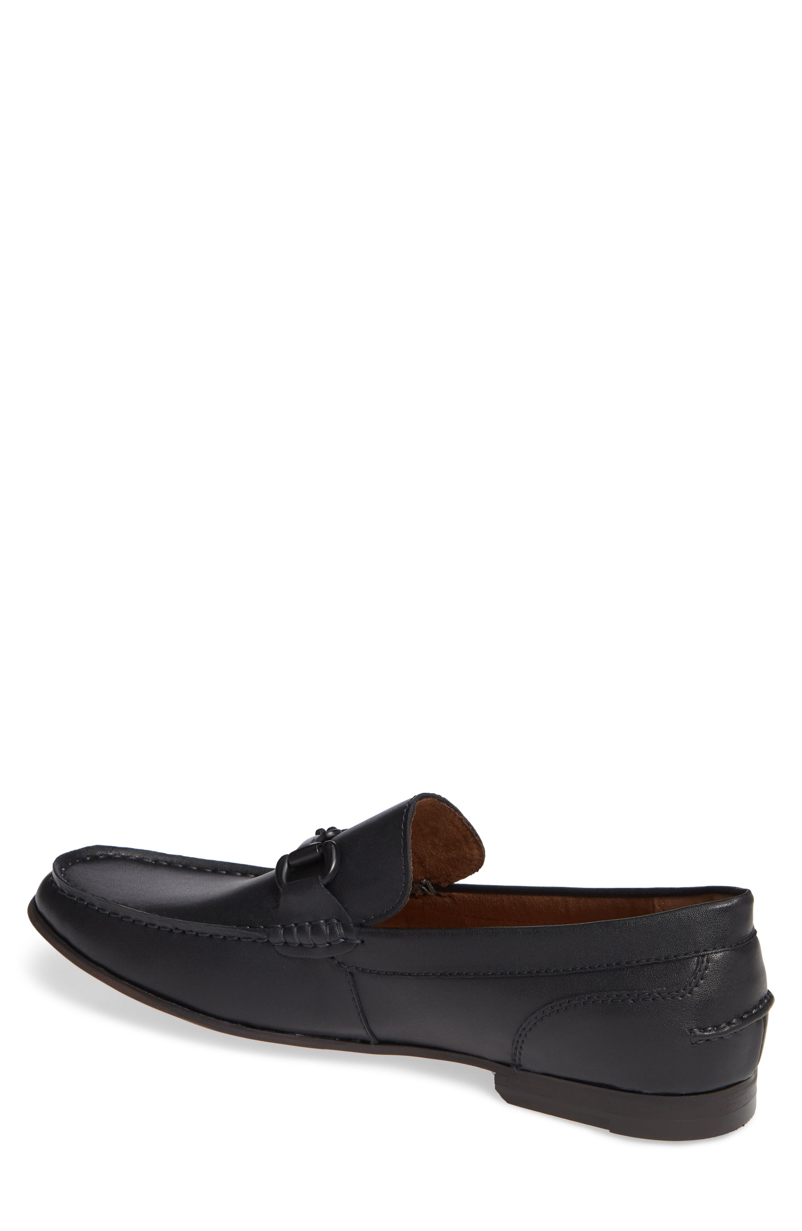 Crespo Loafer,                             Alternate thumbnail 2, color,                             BLACK SYNTHETIC LEATHER