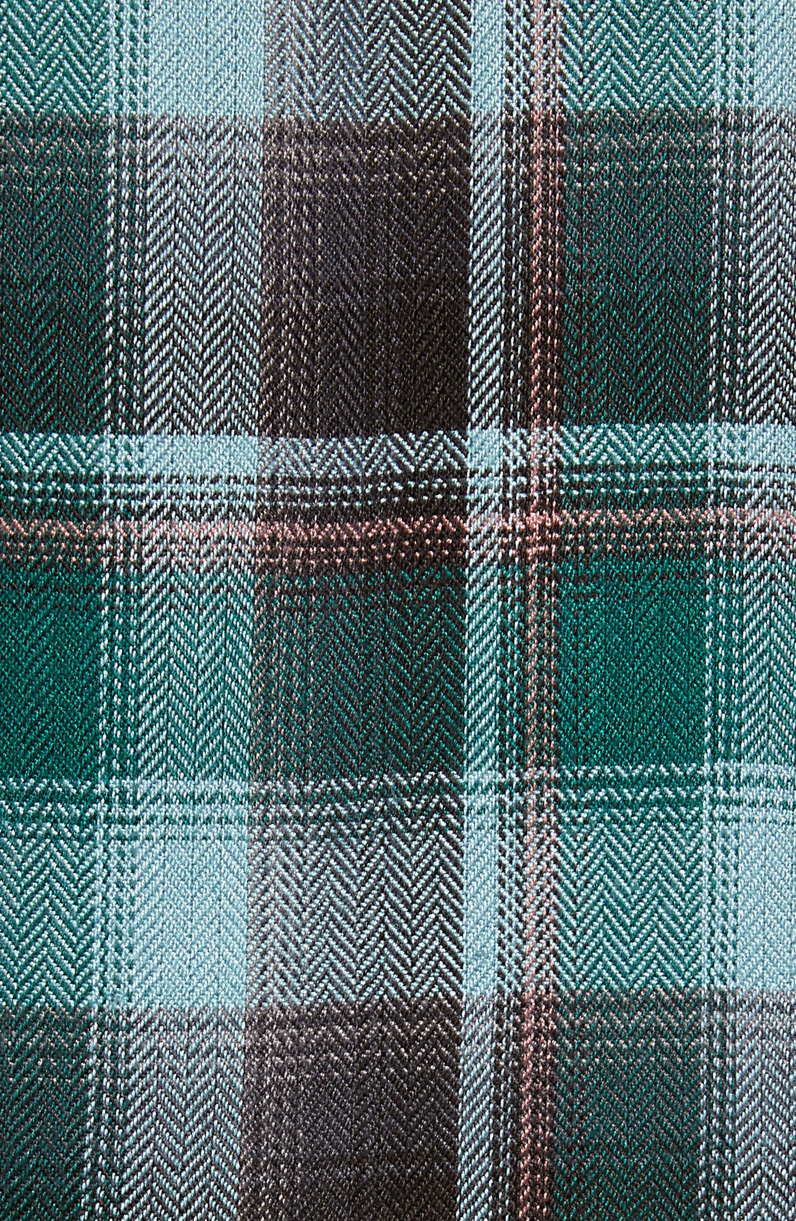 Plaid Corset Shirt,                             Alternate thumbnail 5, color,                             BLUE SMOKE BLANKET CHECK